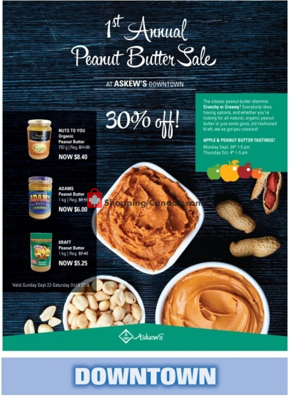 Flyer Askews Foods Canada - from Sunday September 30, 2018 to Saturday October 6, 2018