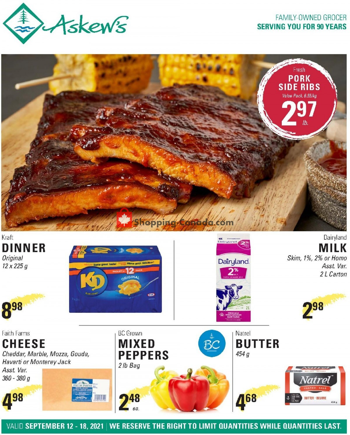 Flyer Askews Foods Canada - from Sunday September 12, 2021 to Saturday September 18, 2021