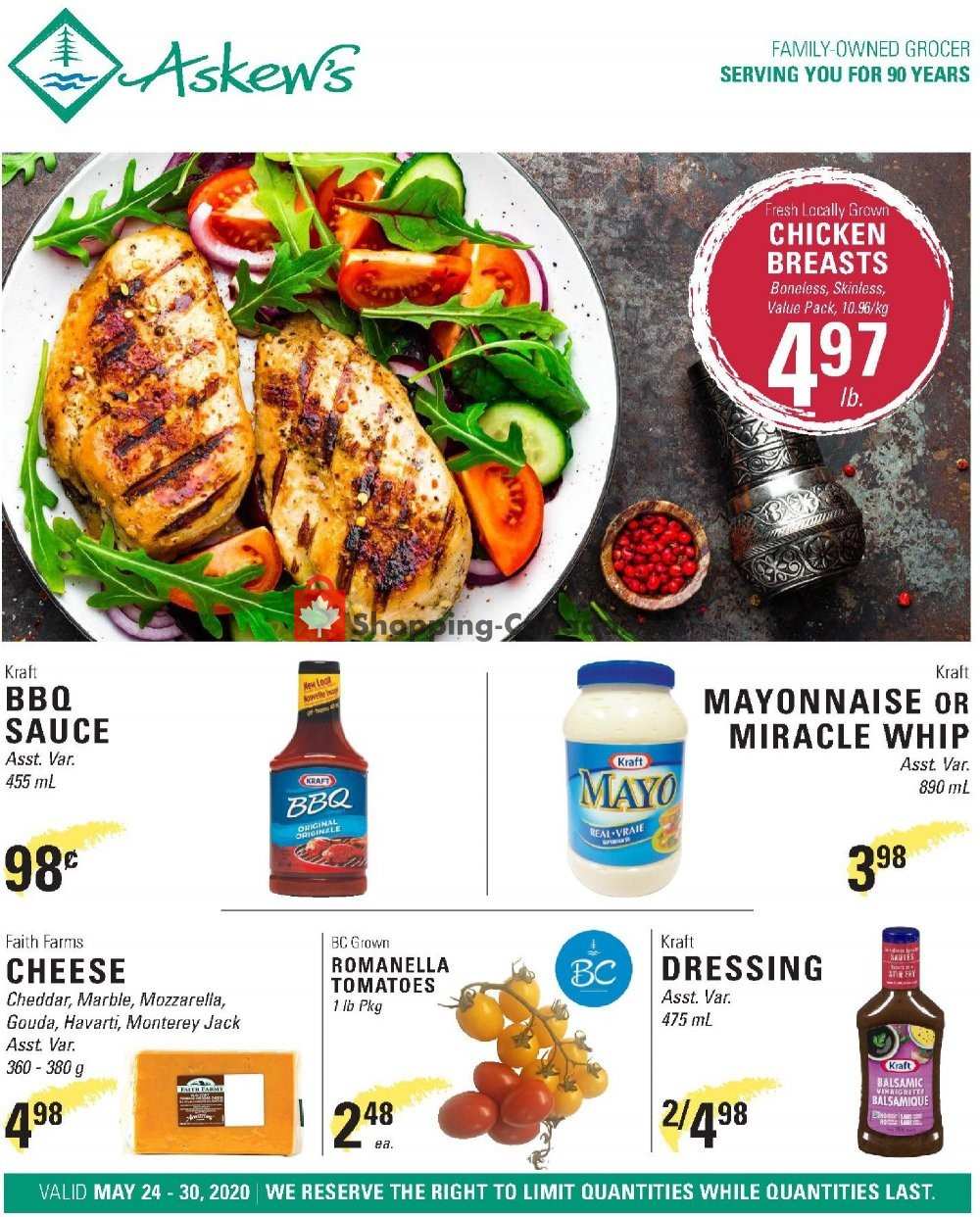 Flyer Askews Foods Canada - from Sunday May 24, 2020 to Saturday May 30, 2020