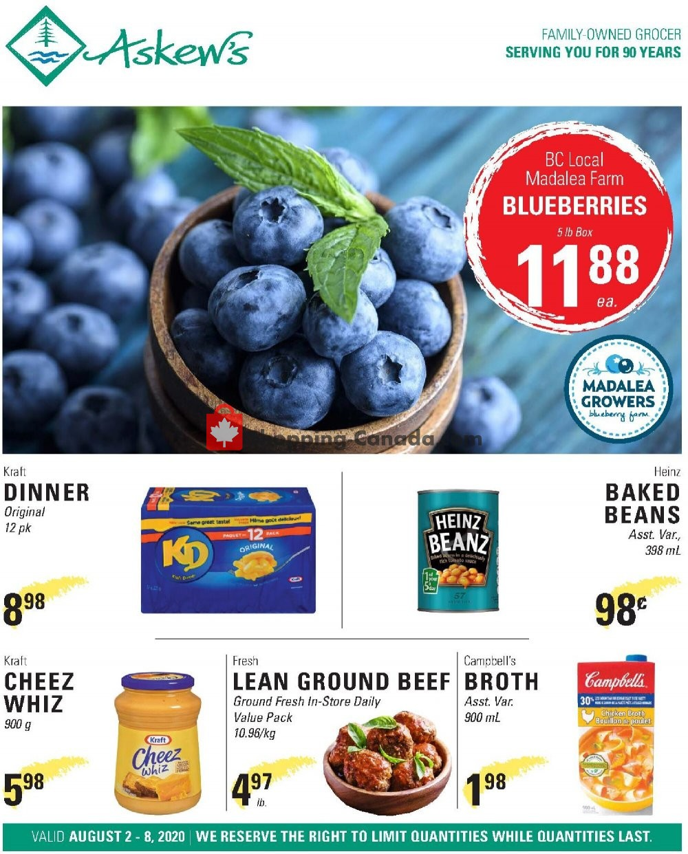 Flyer Askews Foods Canada - from Sunday August 2, 2020 to Saturday August 8, 2020
