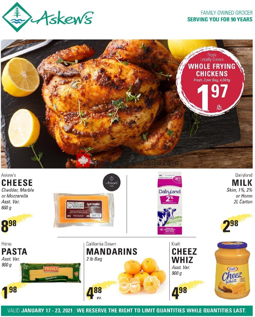 Flyer Askews Foods Canada - from Sunday January 17, 2021 to Saturday January 23, 2021