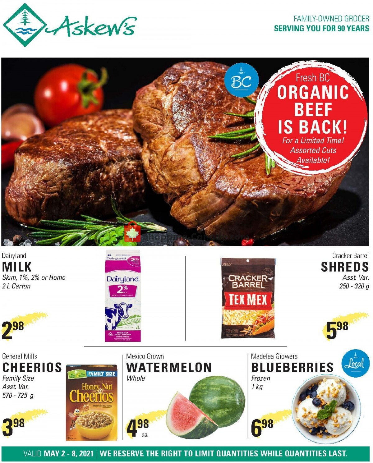 Flyer Askews Foods Canada - from Sunday May 2, 2021 to Saturday May 8, 2021