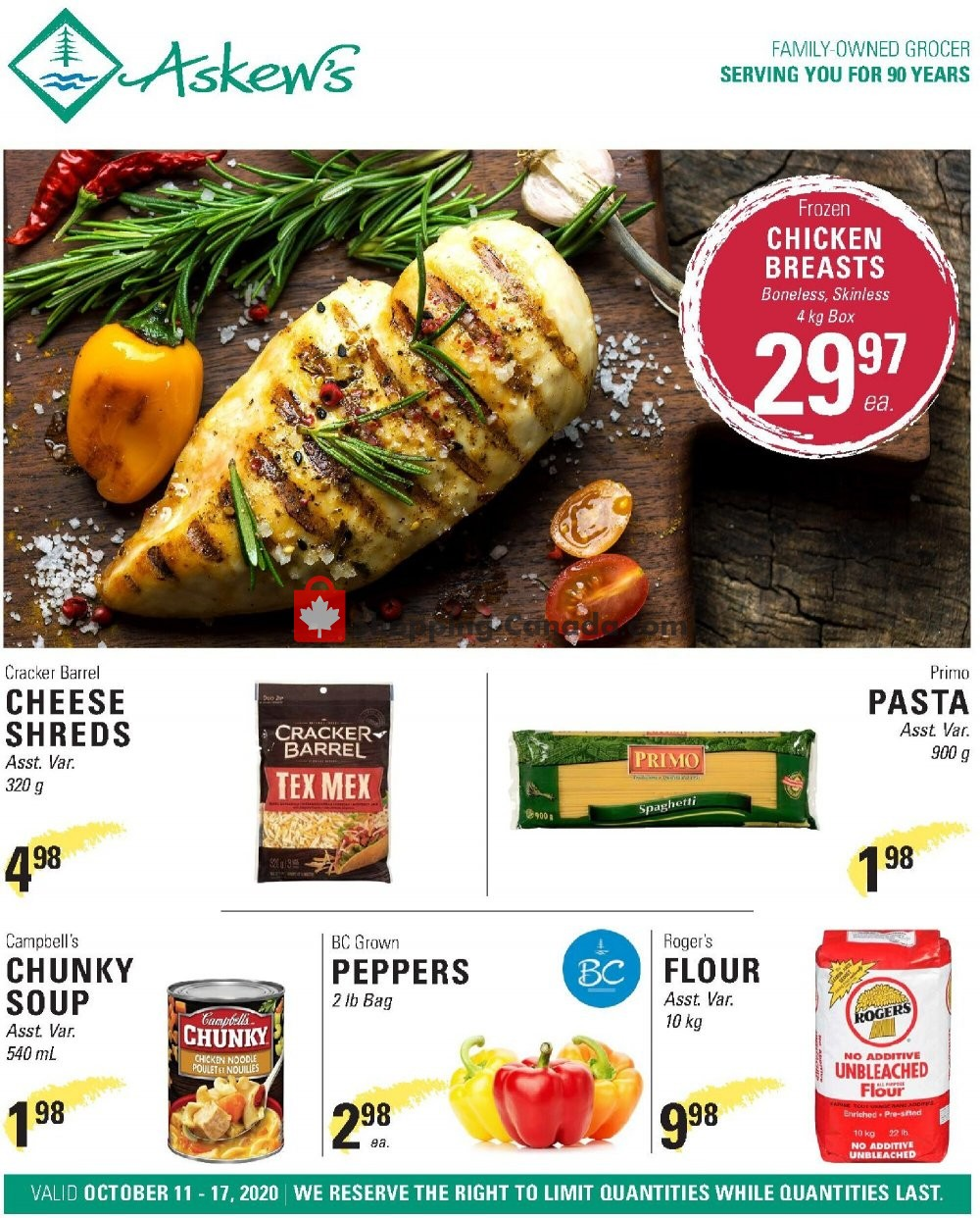 Flyer Askews Foods Canada - from Sunday October 11, 2020 to Saturday October 17, 2020