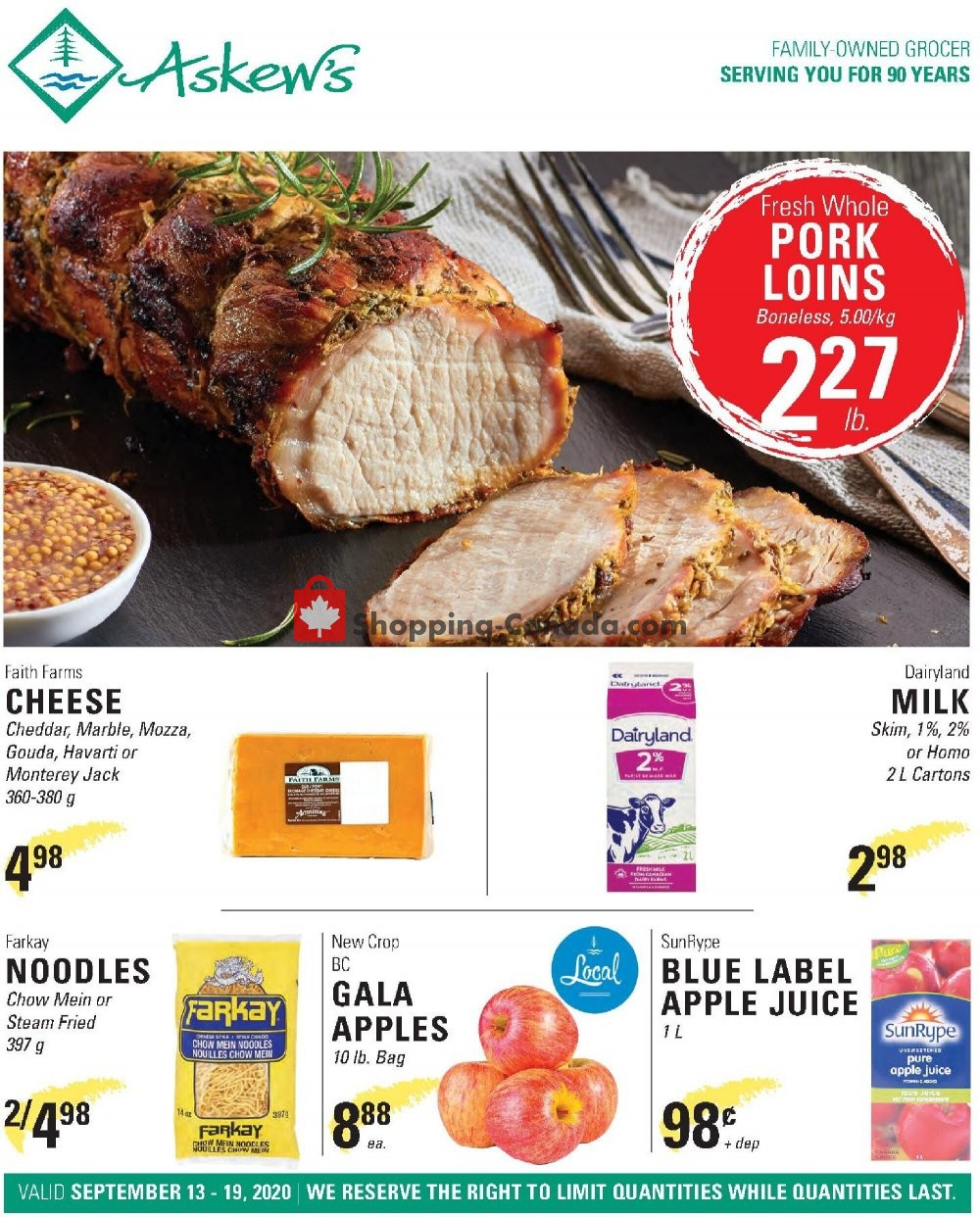 Flyer Askews Foods Canada - from Sunday September 13, 2020 to Saturday September 19, 2020