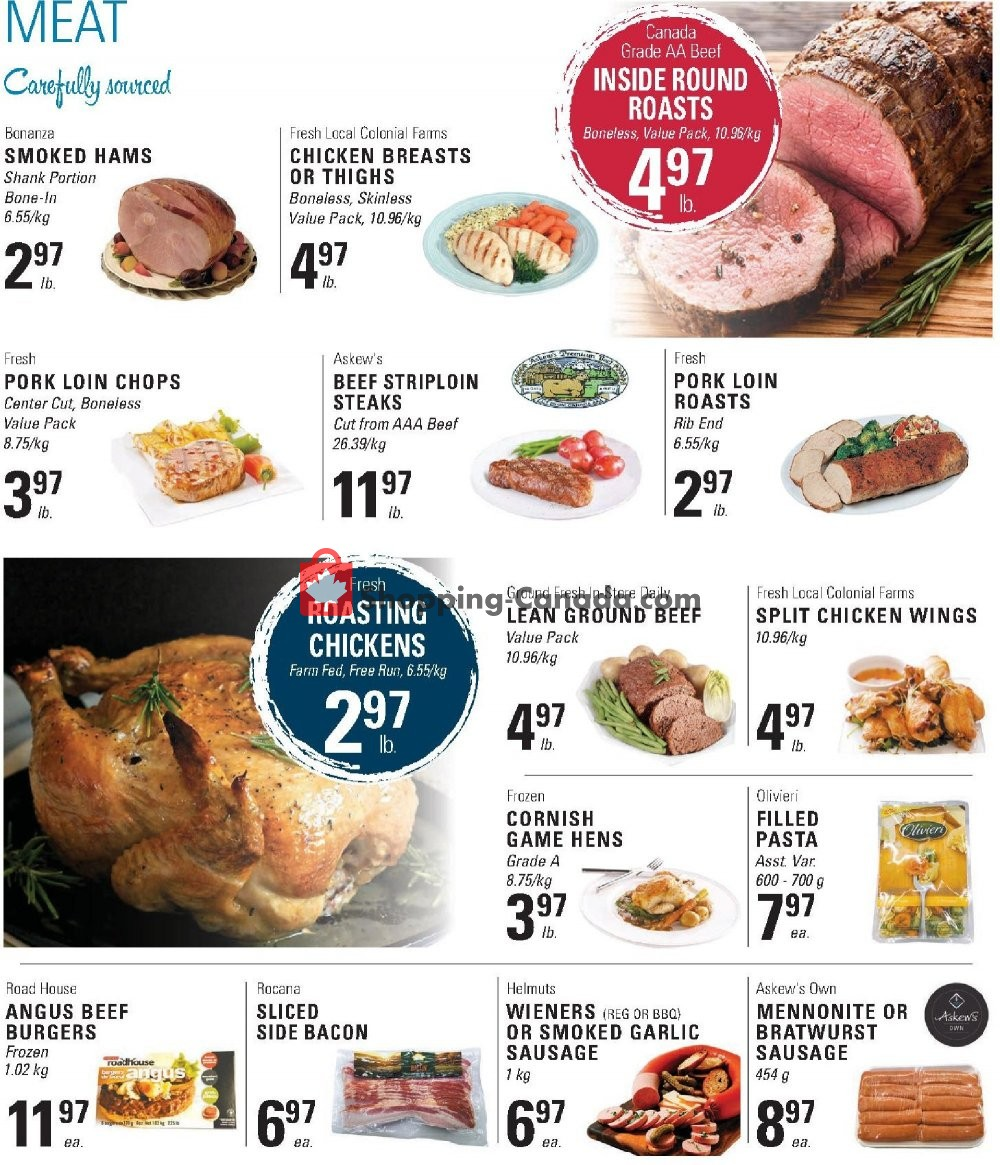 Flyer Askews Foods Canada - from Sunday April 14, 2019 to Saturday April 20, 2019