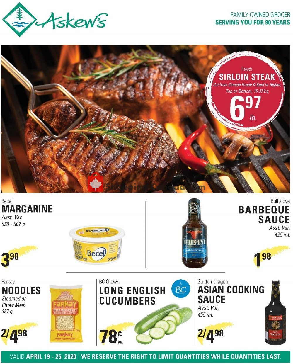 Flyer Askews Foods Canada - from Sunday April 19, 2020 to Saturday April 25, 2020