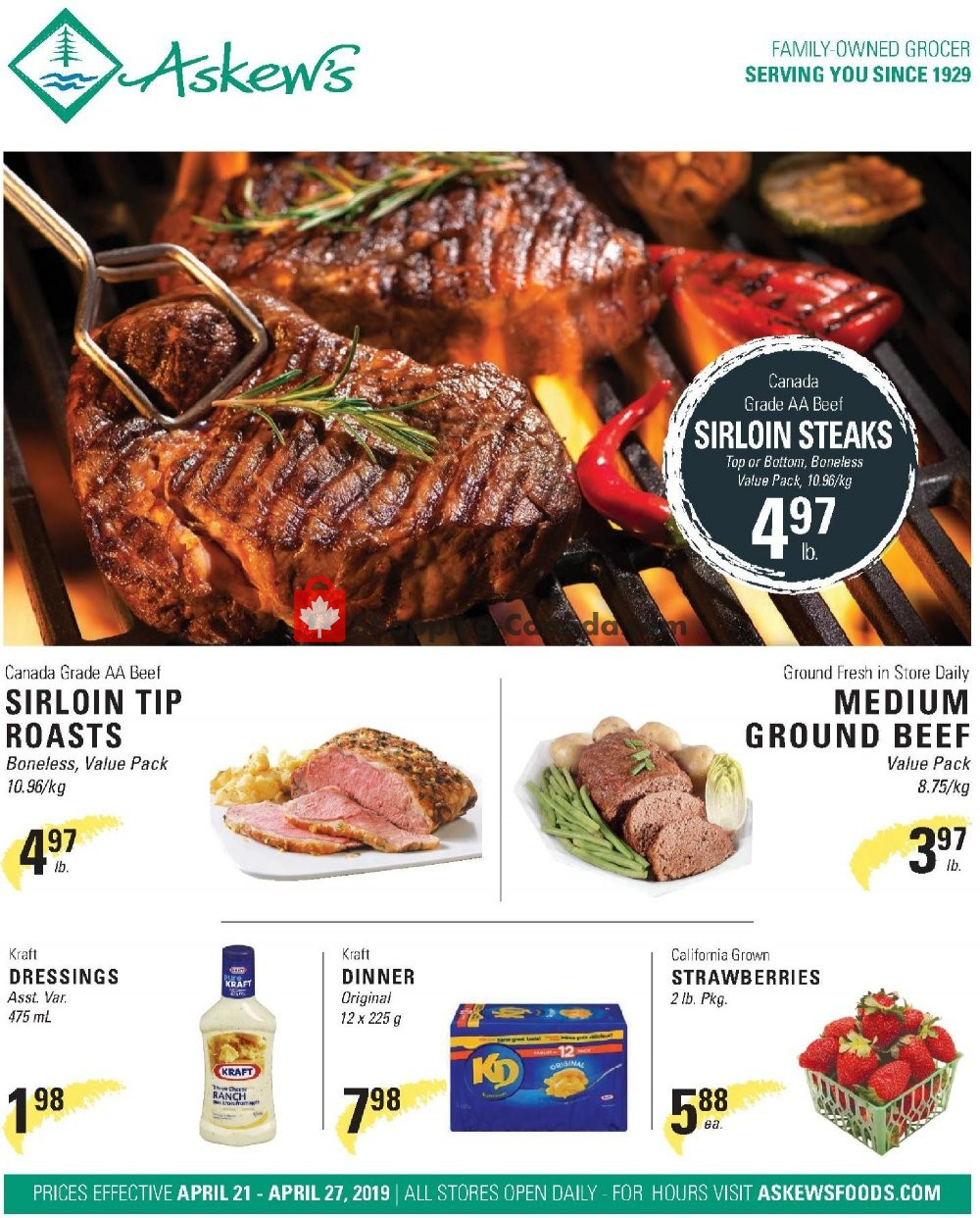 Flyer Askews Foods Canada - from Sunday April 21, 2019 to Saturday April 27, 2019