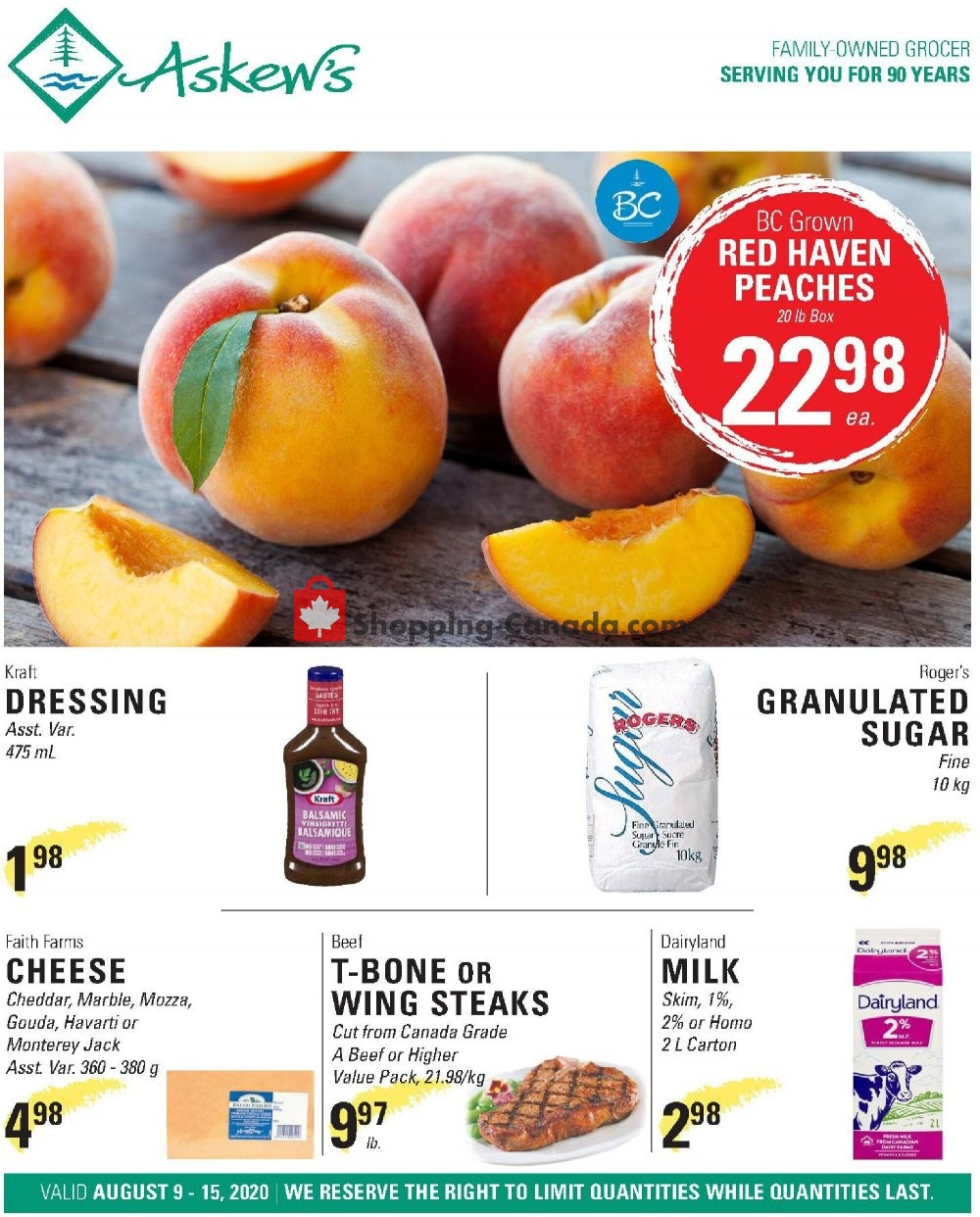 Flyer Askews Foods Canada - from Sunday August 9, 2020 to Saturday August 15, 2020
