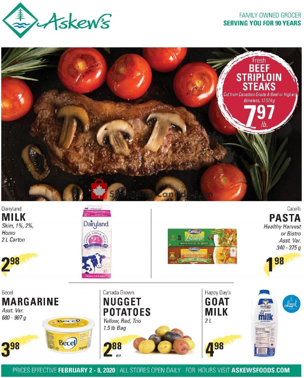 Flyer Askews Foods Canada - from Sunday February 2, 2020 to Saturday February 8, 2020