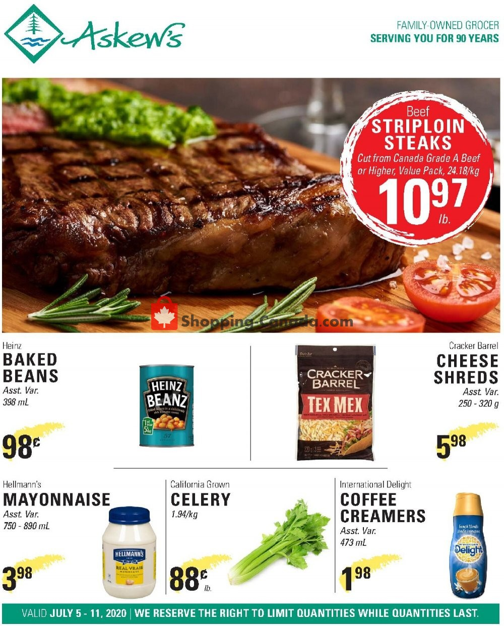 Flyer Askews Foods Canada - from Sunday July 5, 2020 to Saturday July 11, 2020