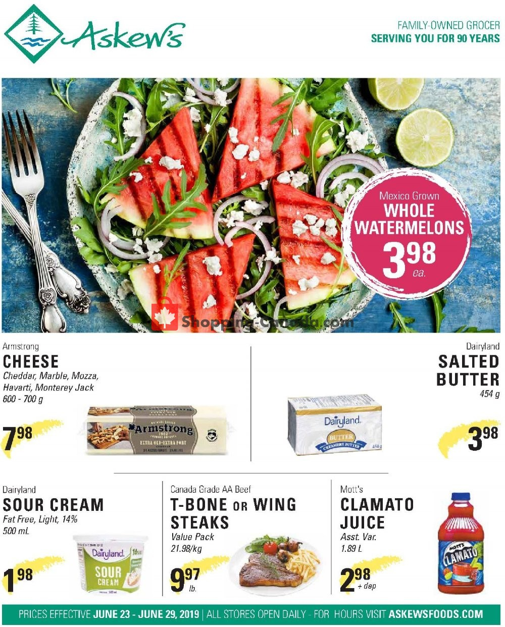 Flyer Askews Foods Canada - from Sunday June 23, 2019 to Saturday June 29, 2019
