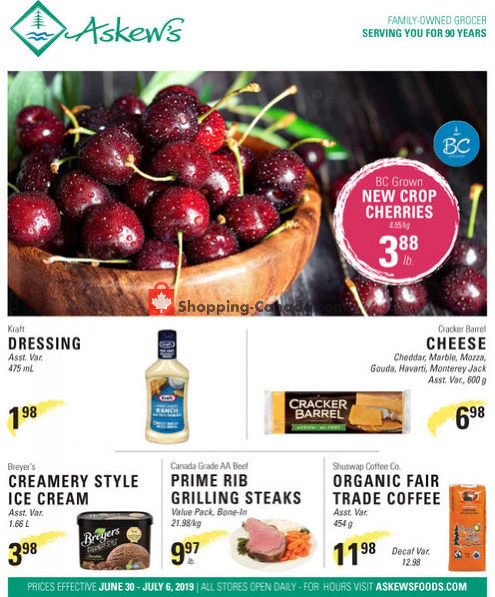 Flyer Askews Foods Canada - from Sunday June 30, 2019 to Saturday July 6, 2019