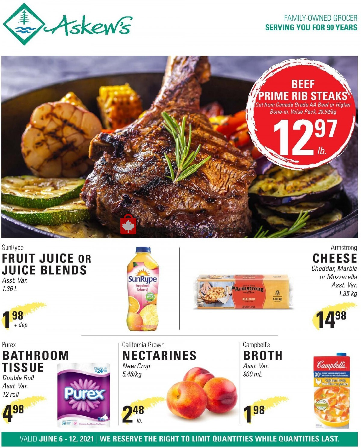 Flyer Askews Foods Canada - from Sunday June 6, 2021 to Saturday June 12, 2021