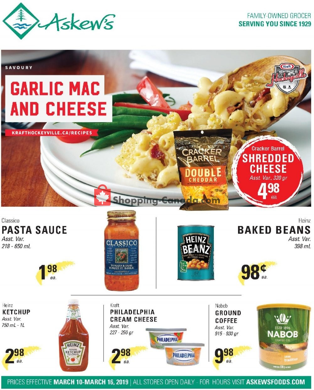 Flyer Askews Foods Canada - from Sunday March 10, 2019 to Saturday March 16, 2019