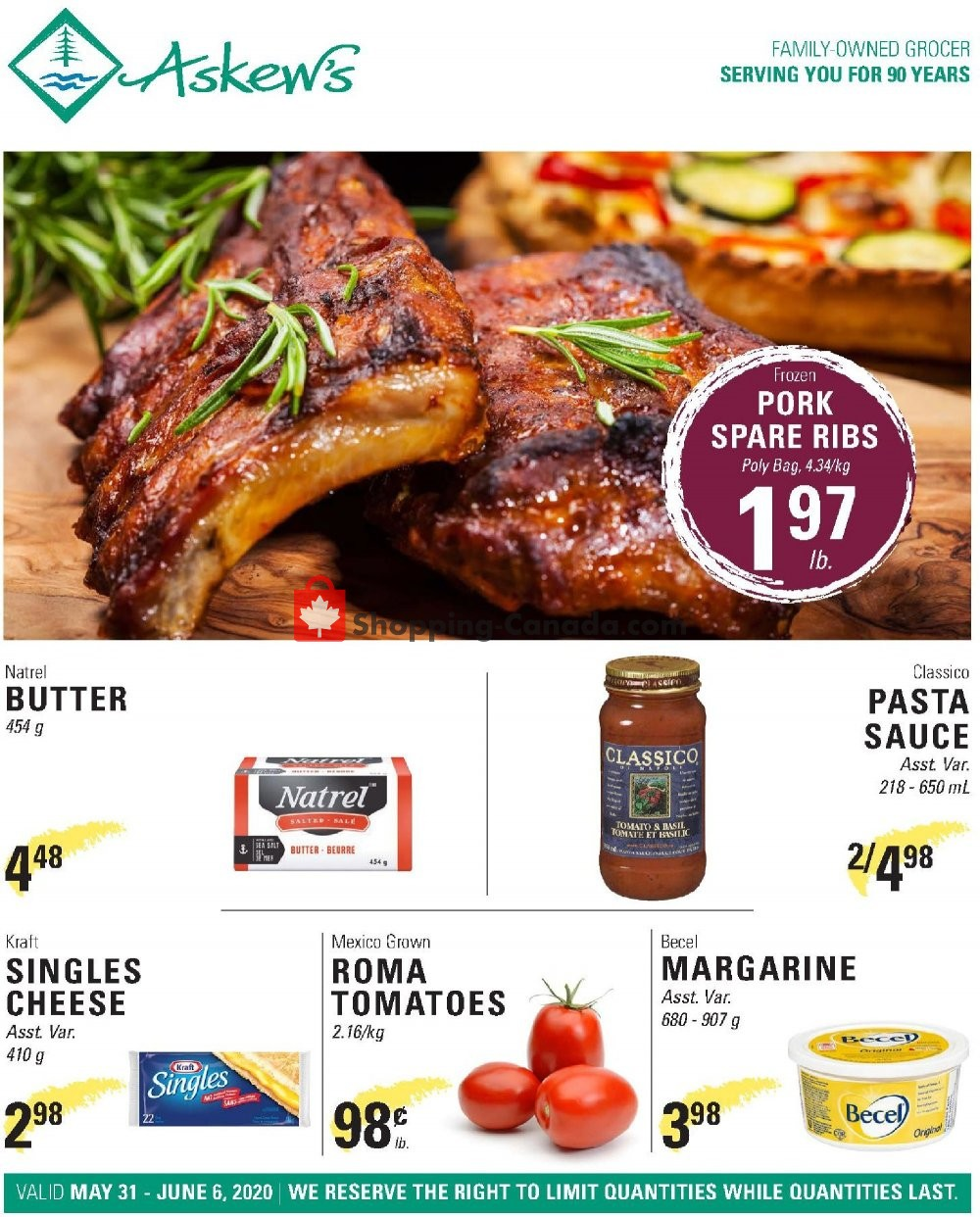 Flyer Askews Foods Canada - from Sunday May 31, 2020 to Saturday June 6, 2020