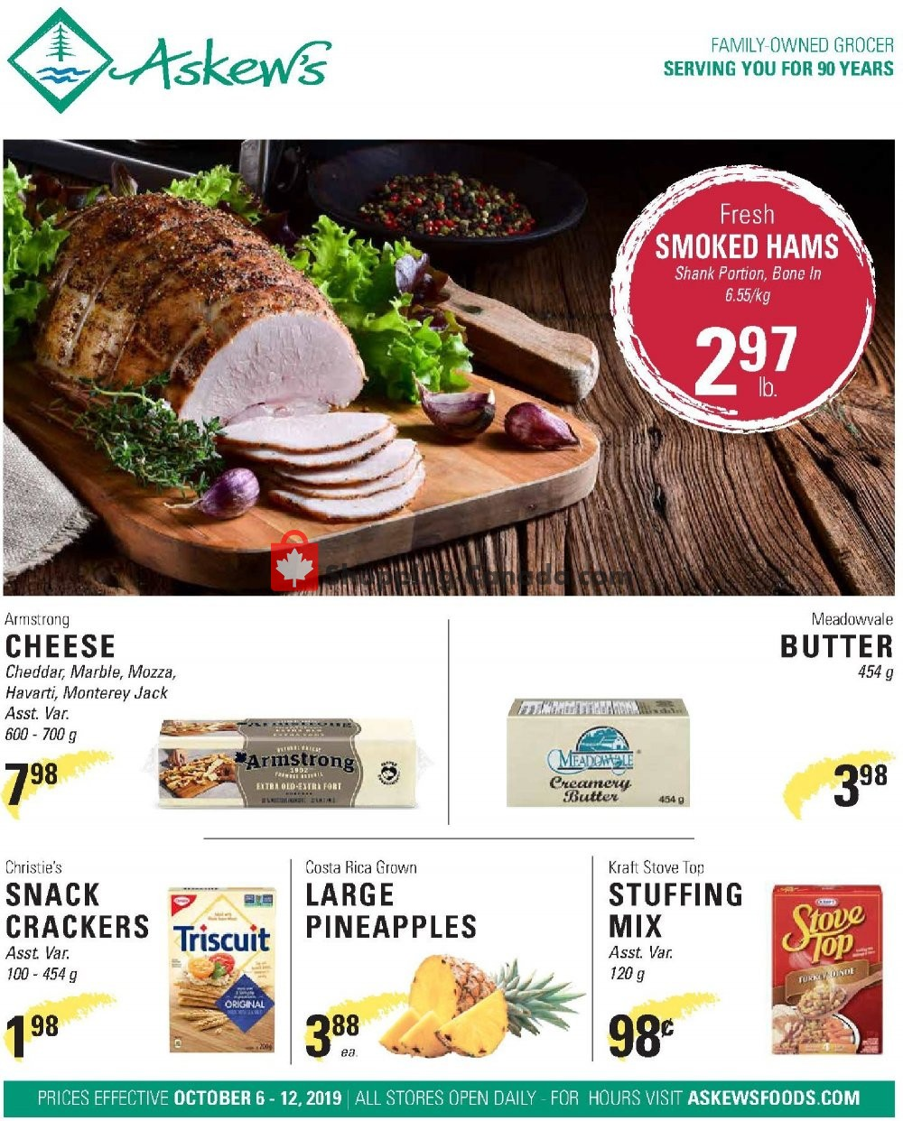 Flyer Askews Foods Canada - from Sunday October 6, 2019 to Saturday October 12, 2019