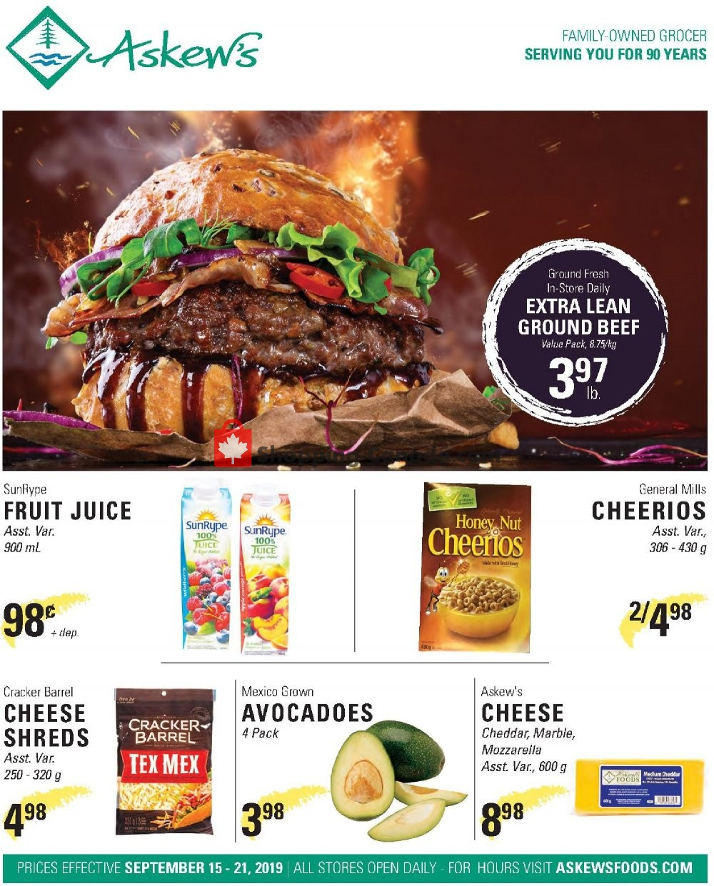 Flyer Askews Foods Canada - from Sunday September 15, 2019 to Saturday September 21, 2019