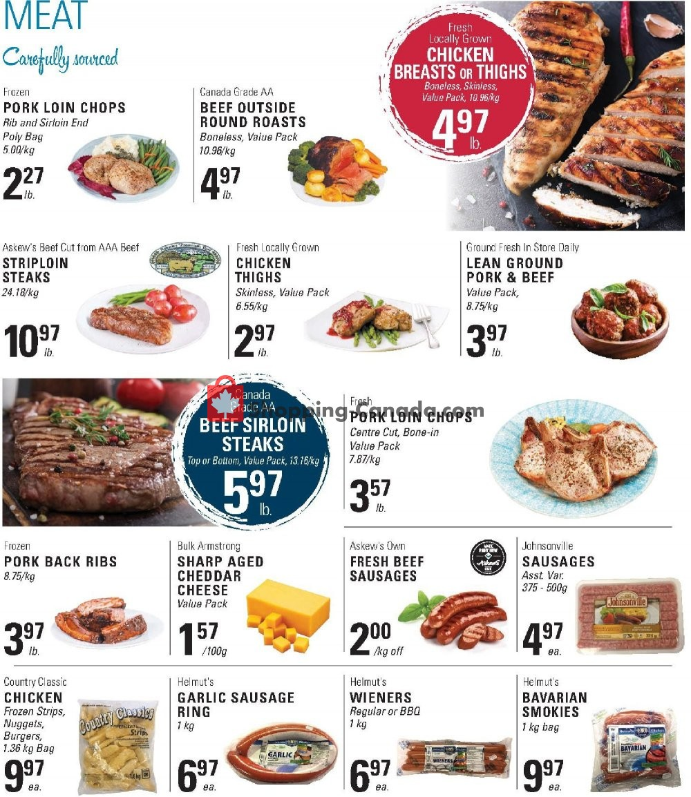 Flyer Askews Foods Canada - from Sunday September 8, 2019 to Saturday September 14, 2019