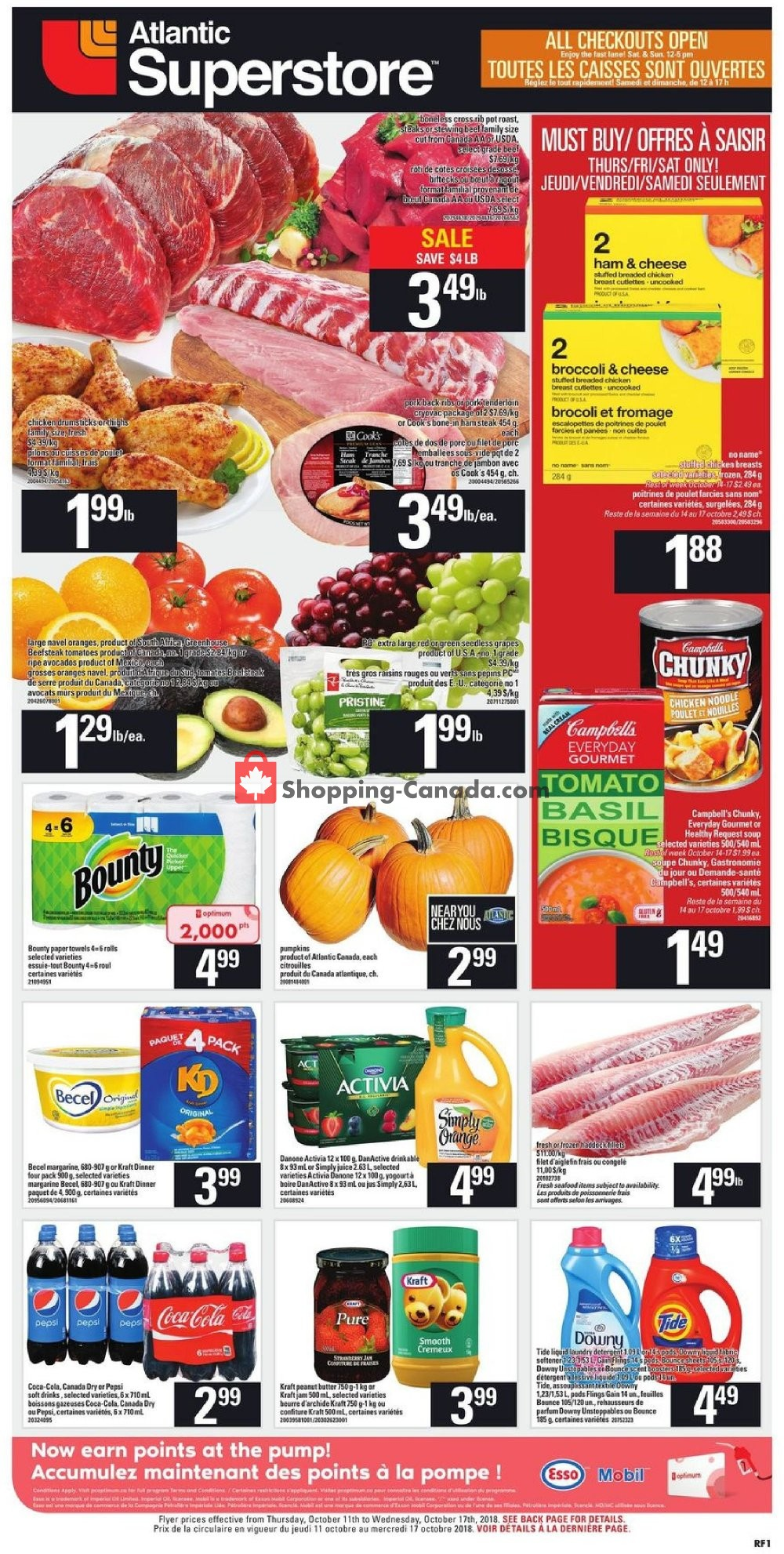Flyer Atlantic Superstore Canada - from Thursday October 11, 2018 to Wednesday October 17, 2018
