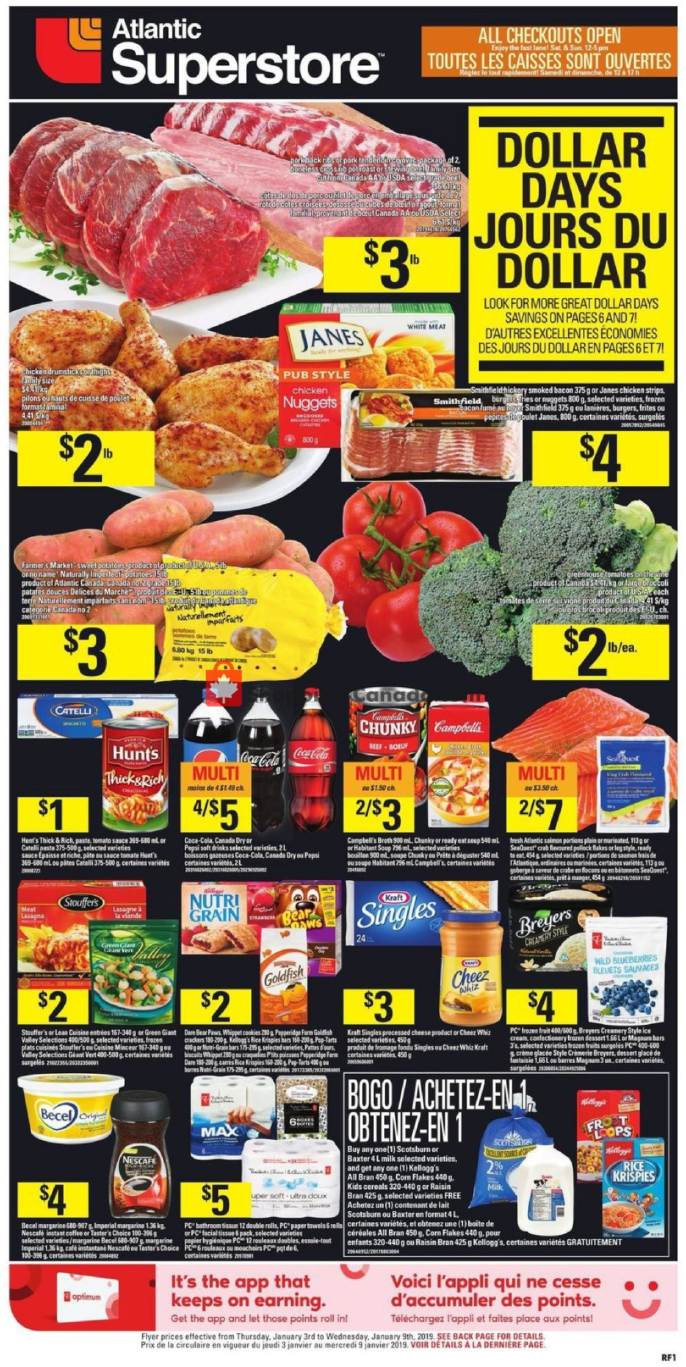 Flyer Atlantic Superstore Canada - from Thursday January 3, 2019 to Wednesday January 9, 2019