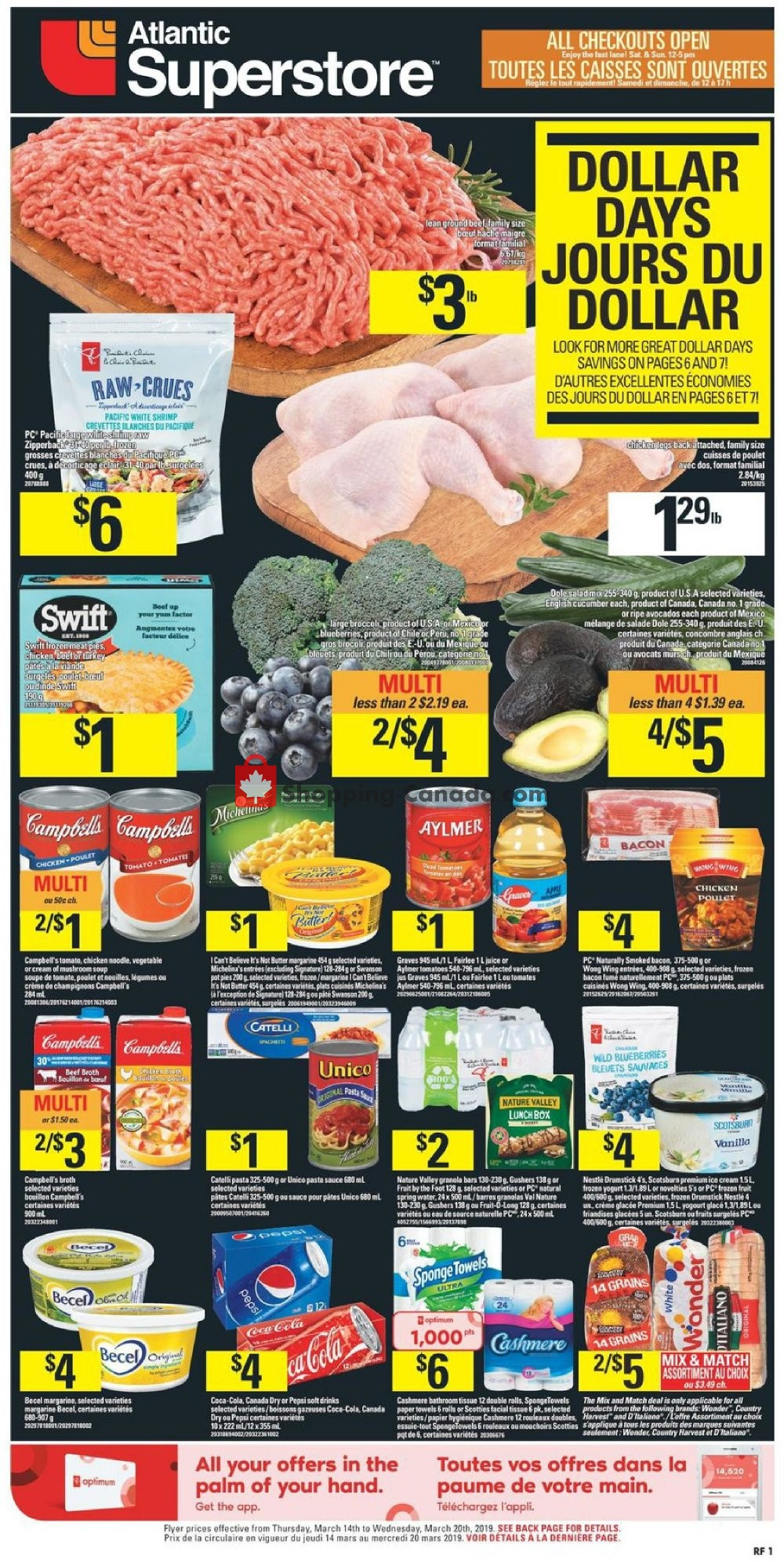 Flyer Atlantic Superstore Canada - from Thursday March 14, 2019 to Wednesday March 20, 2019