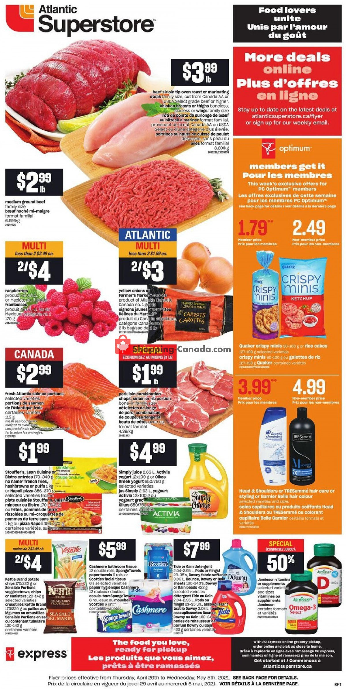 Flyer Atlantic Superstore Canada - from Thursday April 29, 2021 to Wednesday May 5, 2021