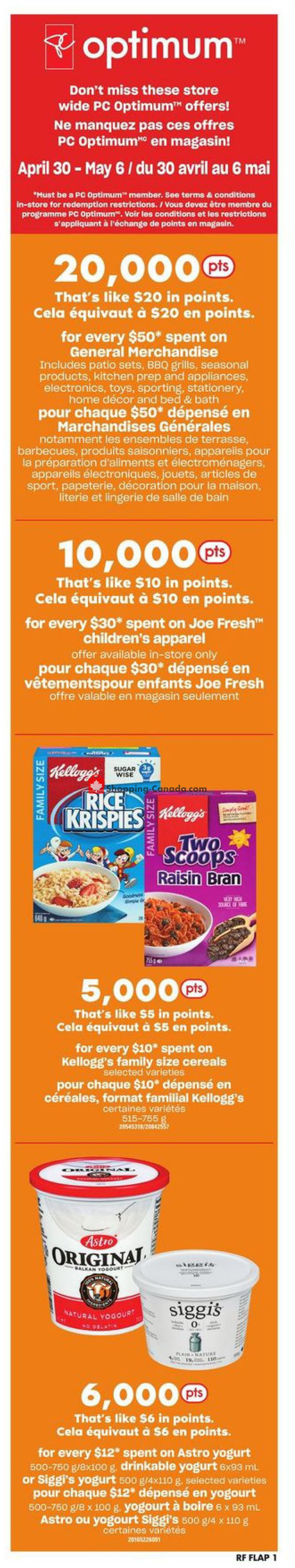 Flyer Atlantic Superstore Canada - from Thursday April 30, 2020 to Wednesday May 6, 2020