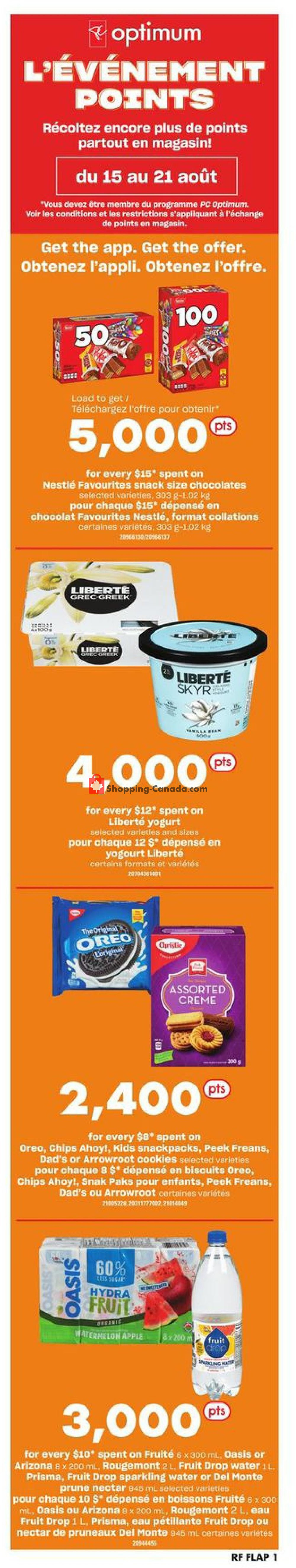 Flyer Atlantic Superstore Canada - from Thursday August 15, 2019 to Wednesday August 21, 2019