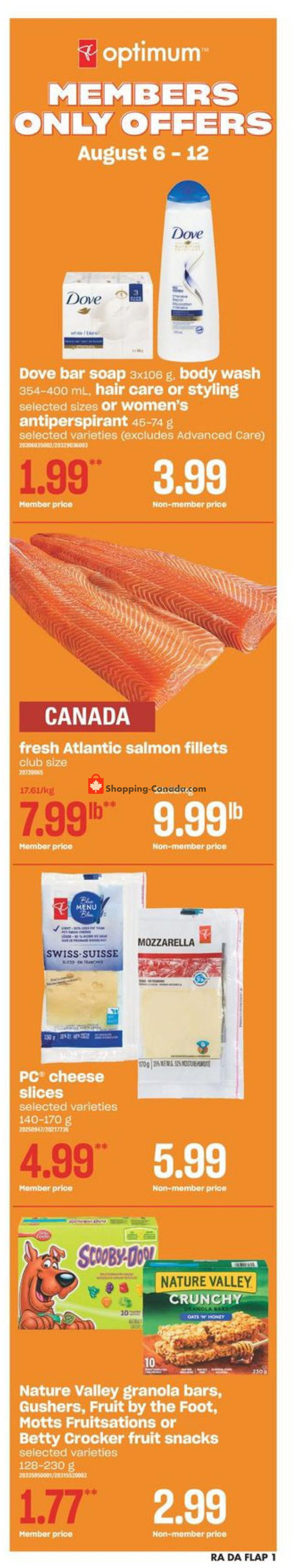 Flyer Atlantic Superstore Canada - from Thursday August 6, 2020 to Wednesday August 12, 2020