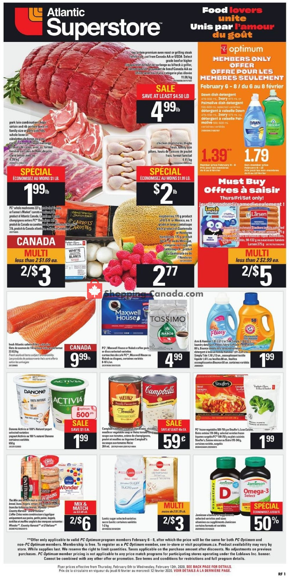Flyer Atlantic Superstore Canada - from Thursday February 6, 2020 to Wednesday February 12, 2020
