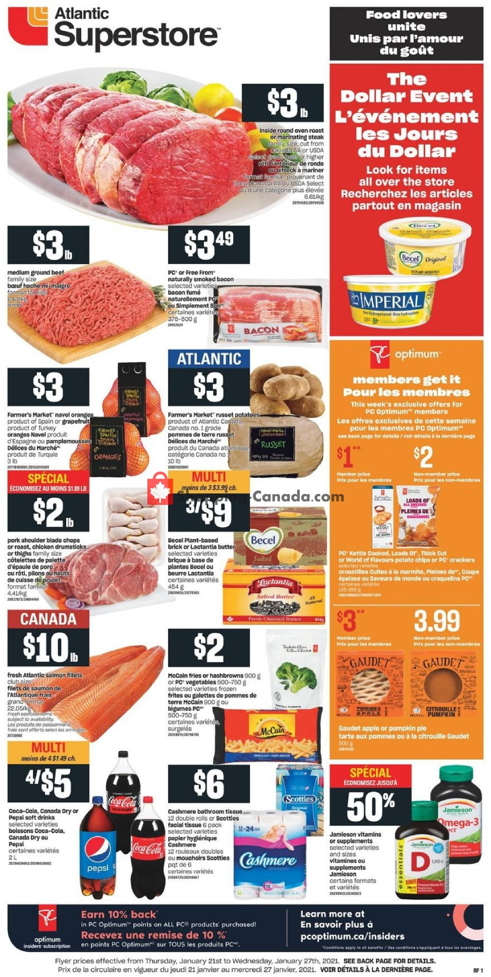 Flyer Atlantic Superstore Canada - from Thursday January 21, 2021 to Wednesday January 27, 2021