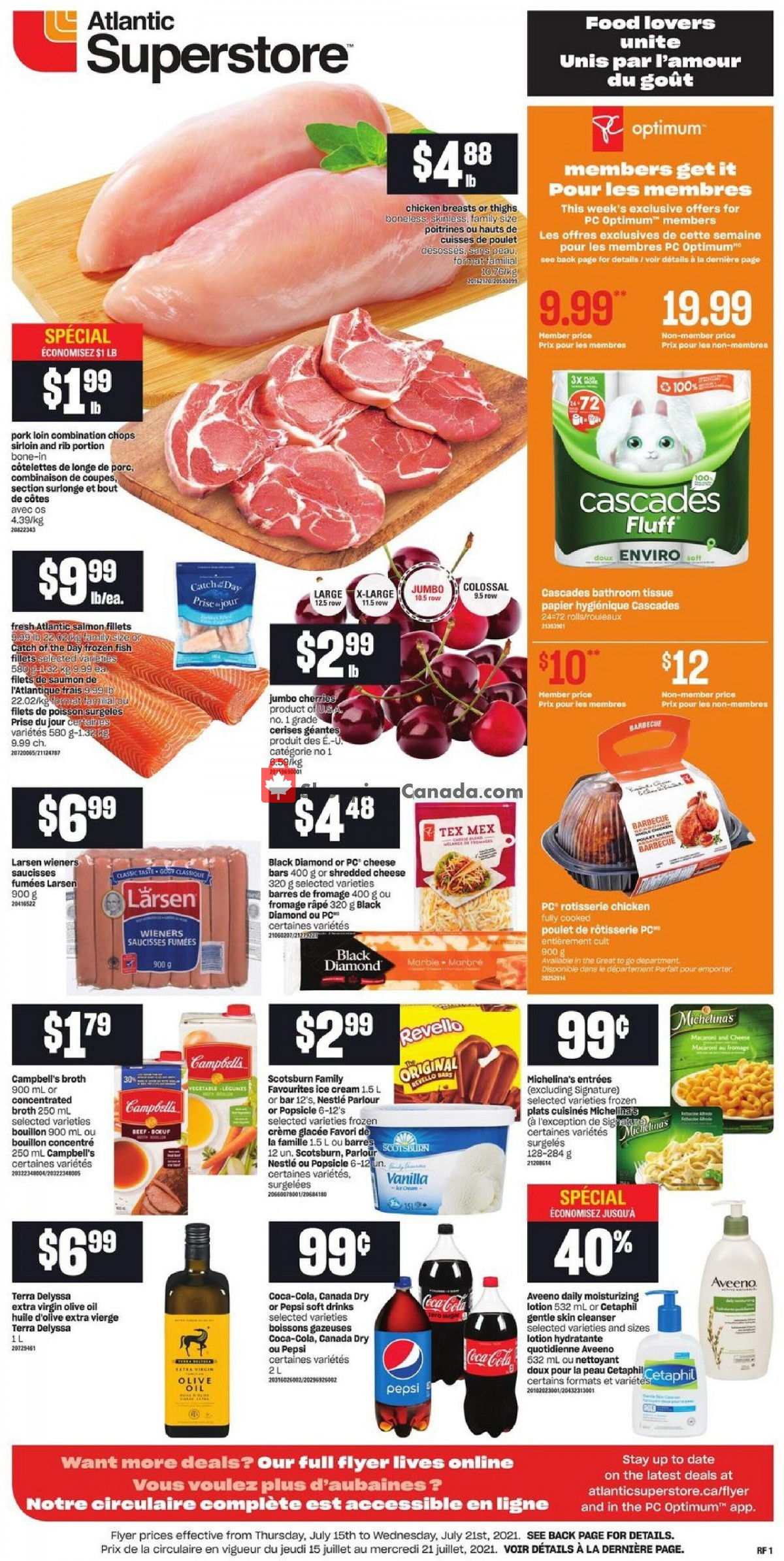 Flyer Atlantic Superstore Canada - from Thursday July 15, 2021 to Wednesday July 21, 2021