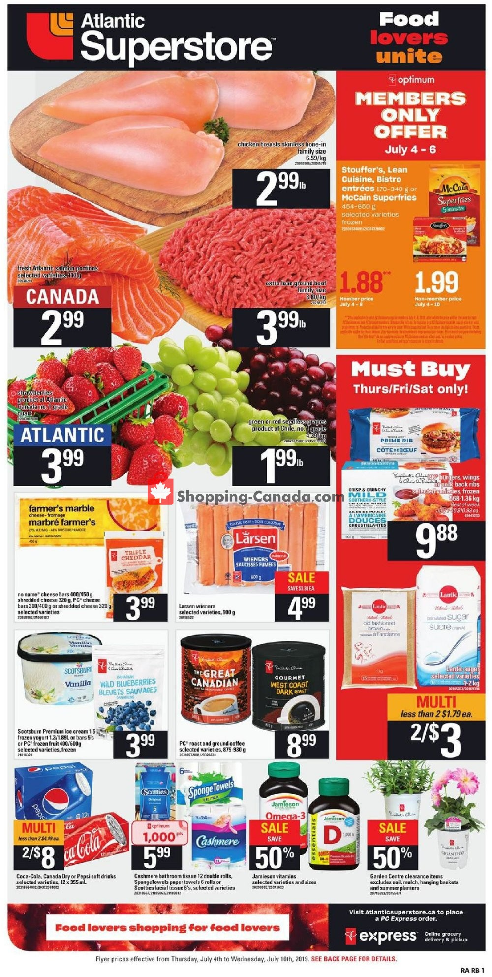 Flyer Atlantic Superstore Canada - from Thursday July 4, 2019 to Wednesday July 10, 2019