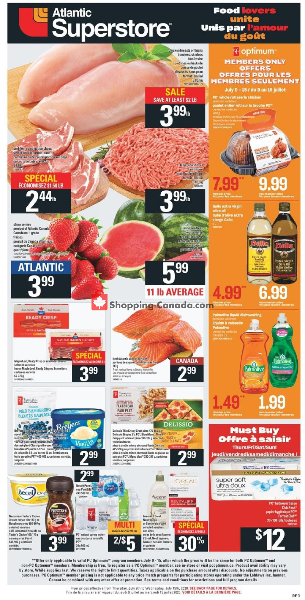 Flyer Atlantic Superstore Canada - from Thursday July 9, 2020 to Wednesday July 15, 2020