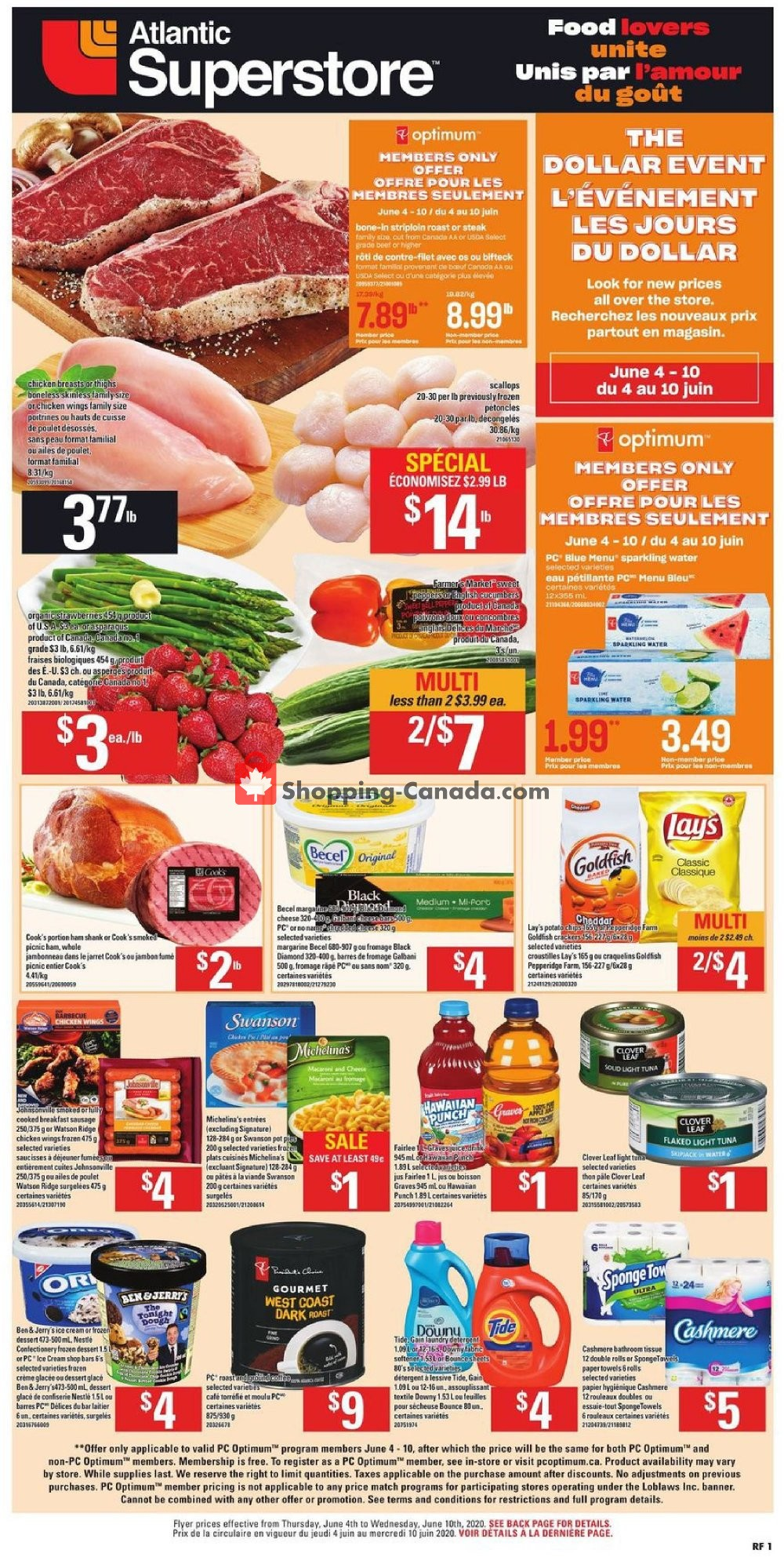 Flyer Atlantic Superstore Canada - from Thursday June 4, 2020 to Wednesday June 10, 2020
