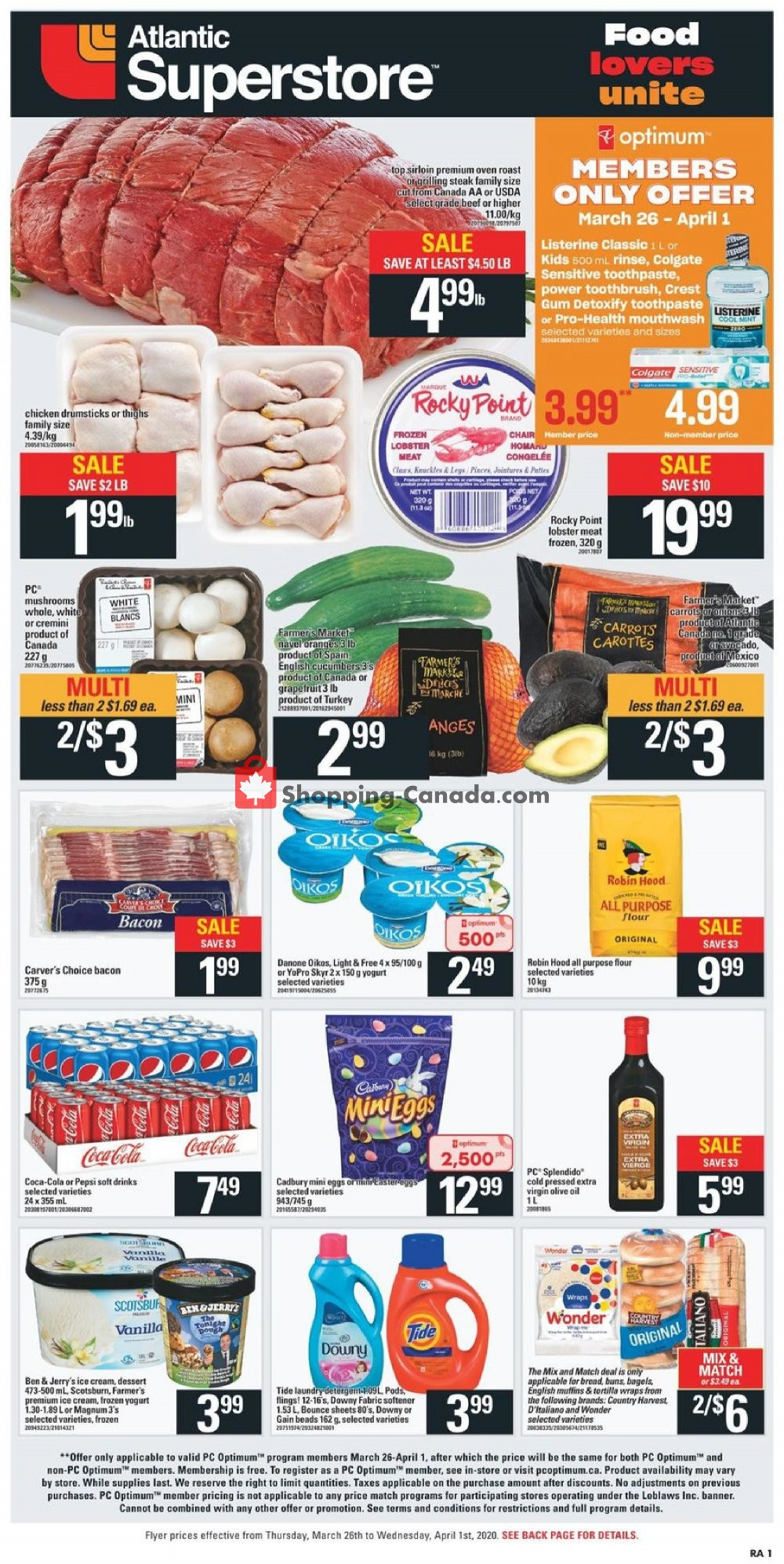 Flyer Atlantic Superstore Canada - from Thursday March 26, 2020 to Wednesday April 1, 2020