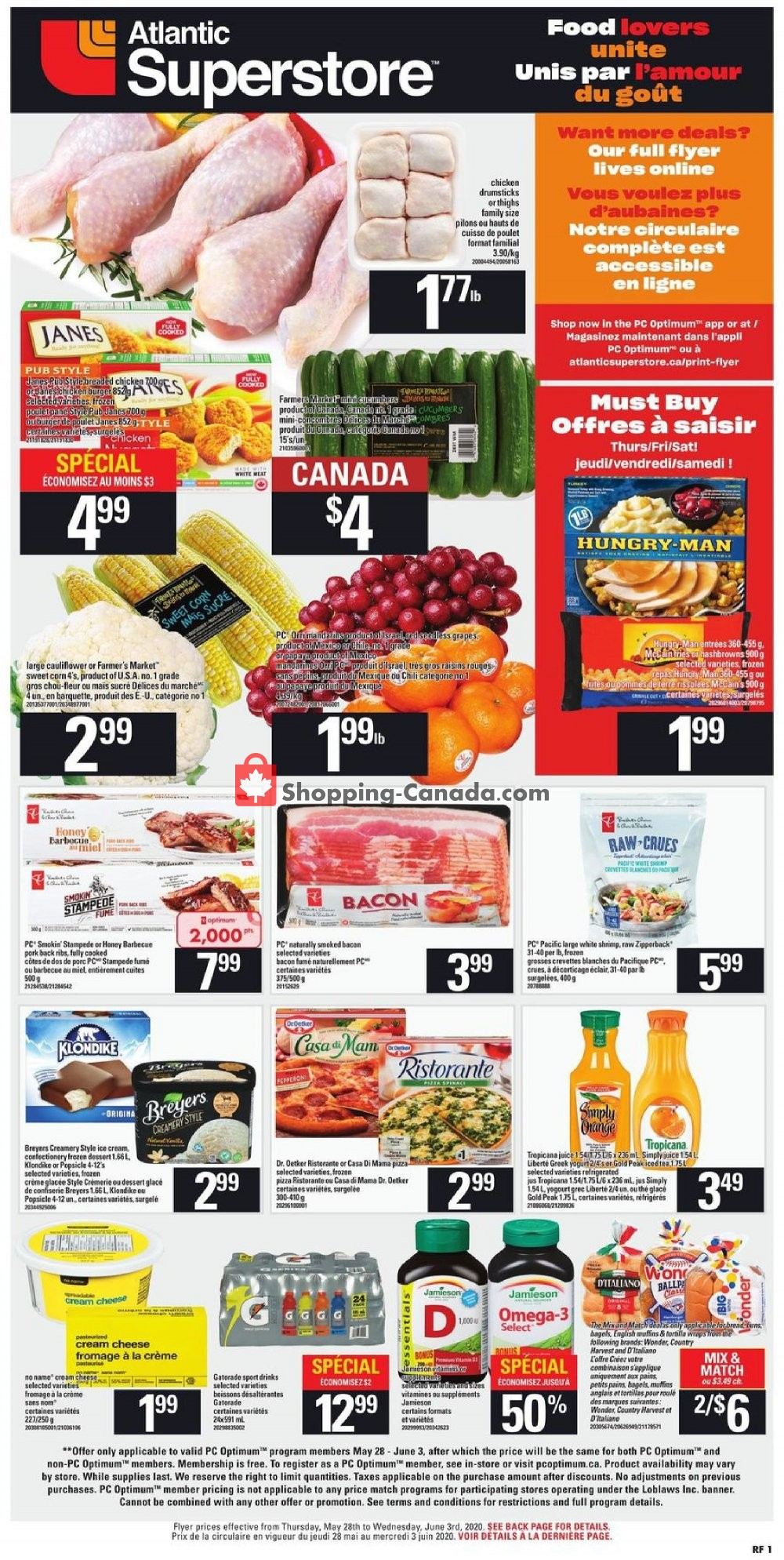 Flyer Atlantic Superstore Canada - from Thursday May 28, 2020 to Wednesday June 3, 2020