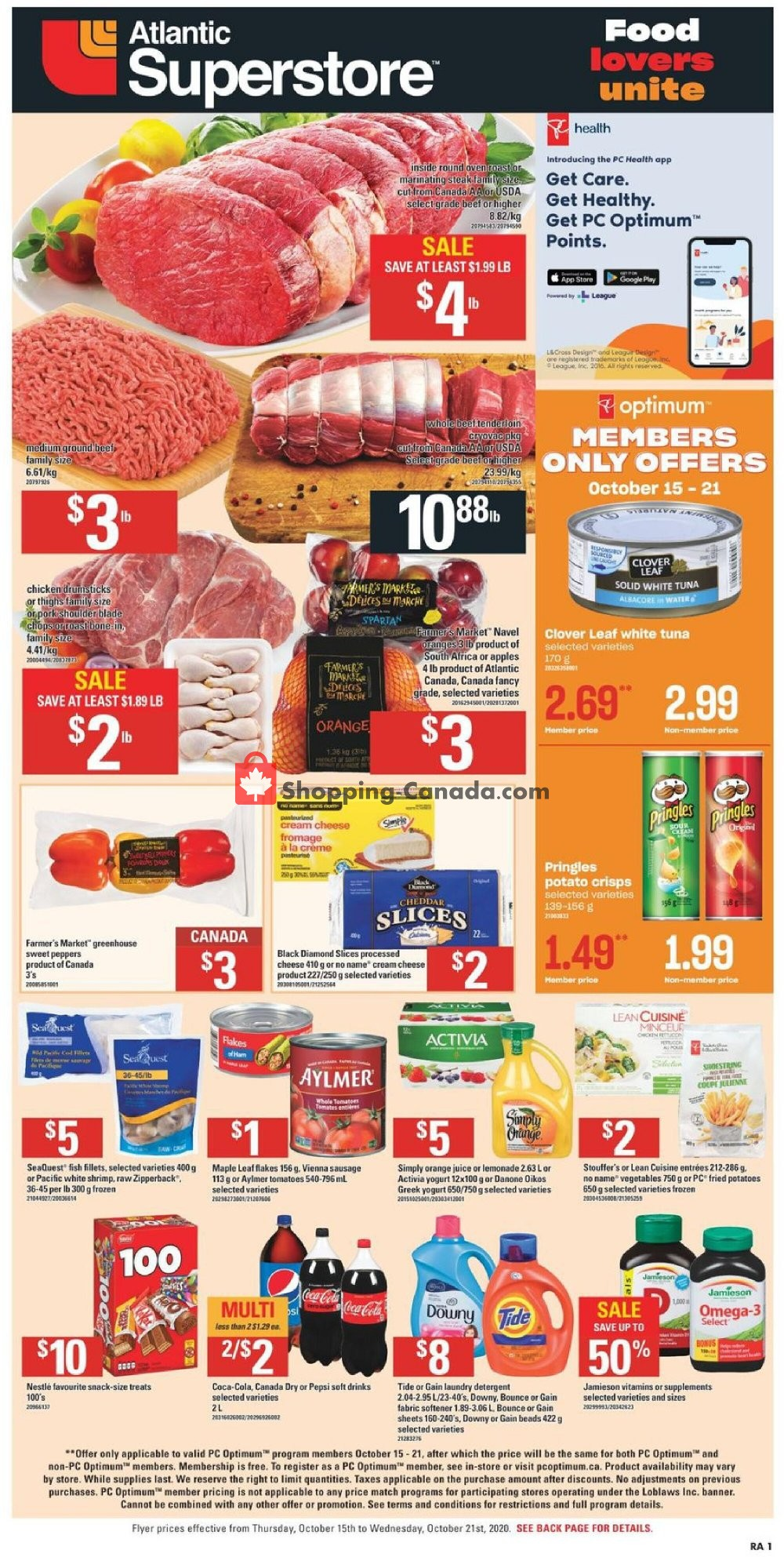 Flyer Atlantic Superstore Canada - from Thursday October 15, 2020 to Wednesday October 21, 2020