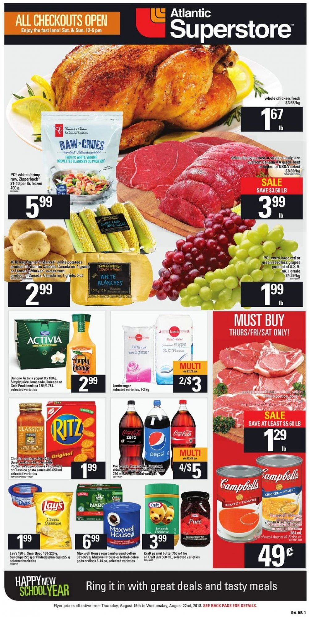 Flyer Atlantic Superstore Canada - from Thursday August 16, 2018 to Wednesday August 22, 2018
