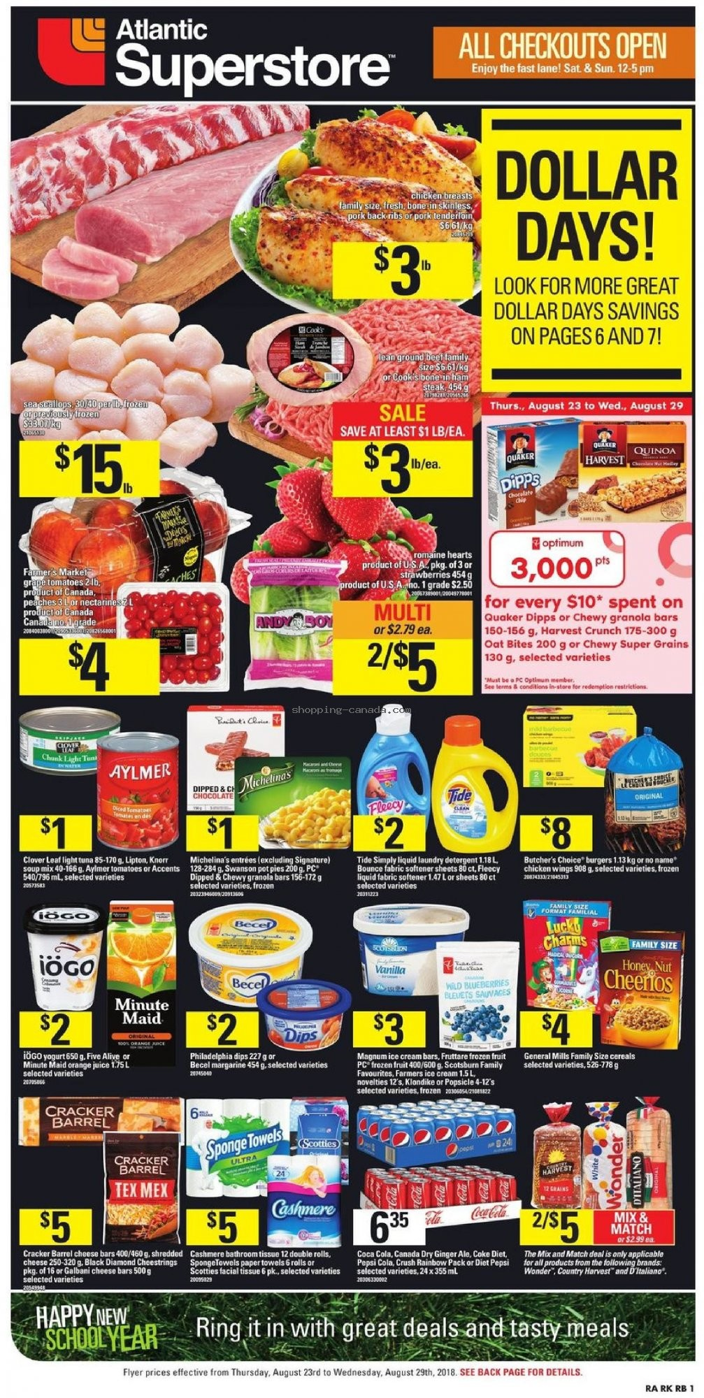 Flyer Atlantic Superstore Canada - from Thursday August 23, 2018 to Wednesday August 29, 2018