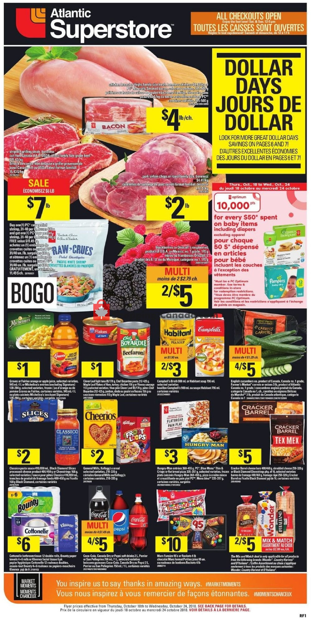 Flyer Atlantic Superstore Canada - from Thursday October 18, 2018 to Wednesday October 24, 2018