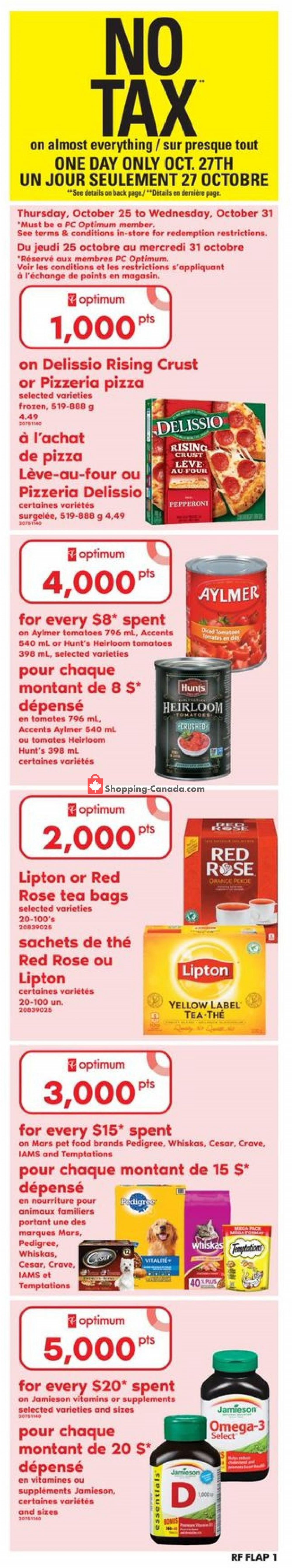 Flyer Atlantic Superstore Canada - from Thursday October 25, 2018 to Wednesday October 31, 2018