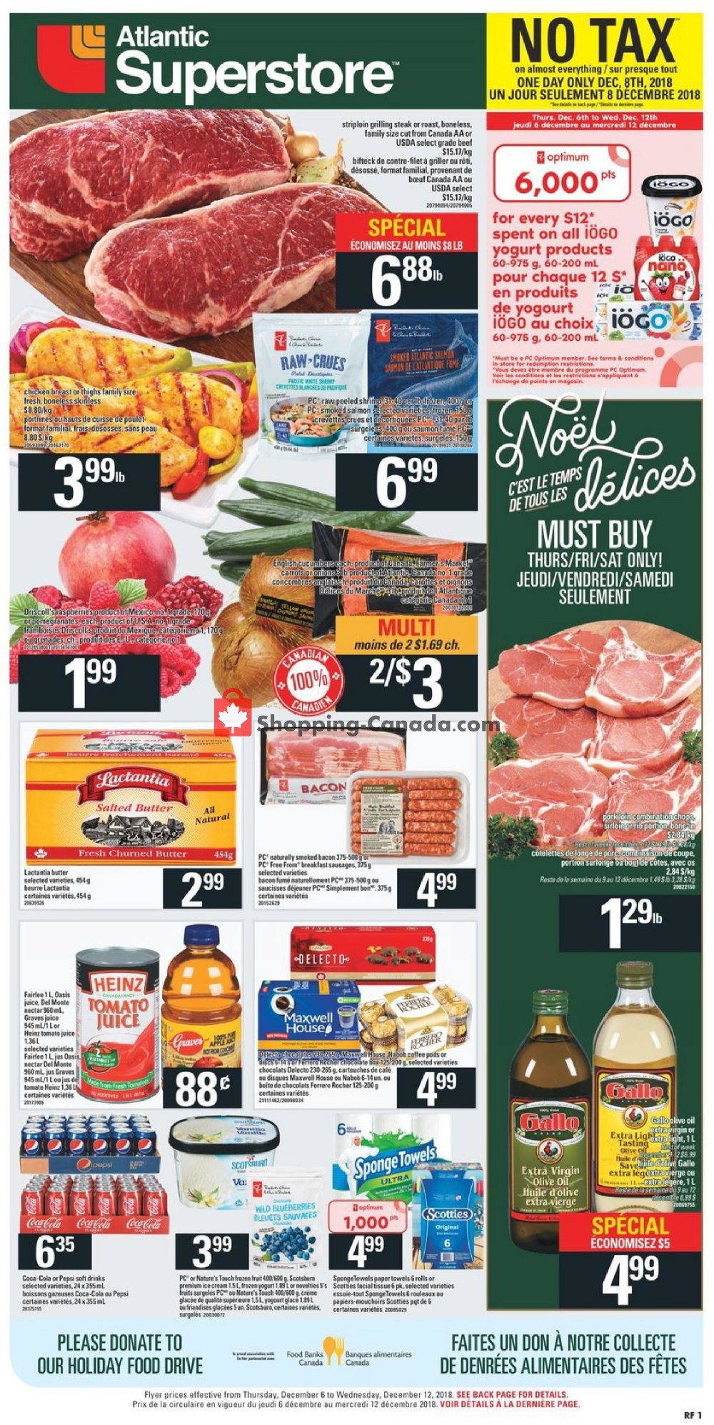 Flyer Atlantic Superstore Canada - from Thursday December 6, 2018 to Wednesday December 12, 2018