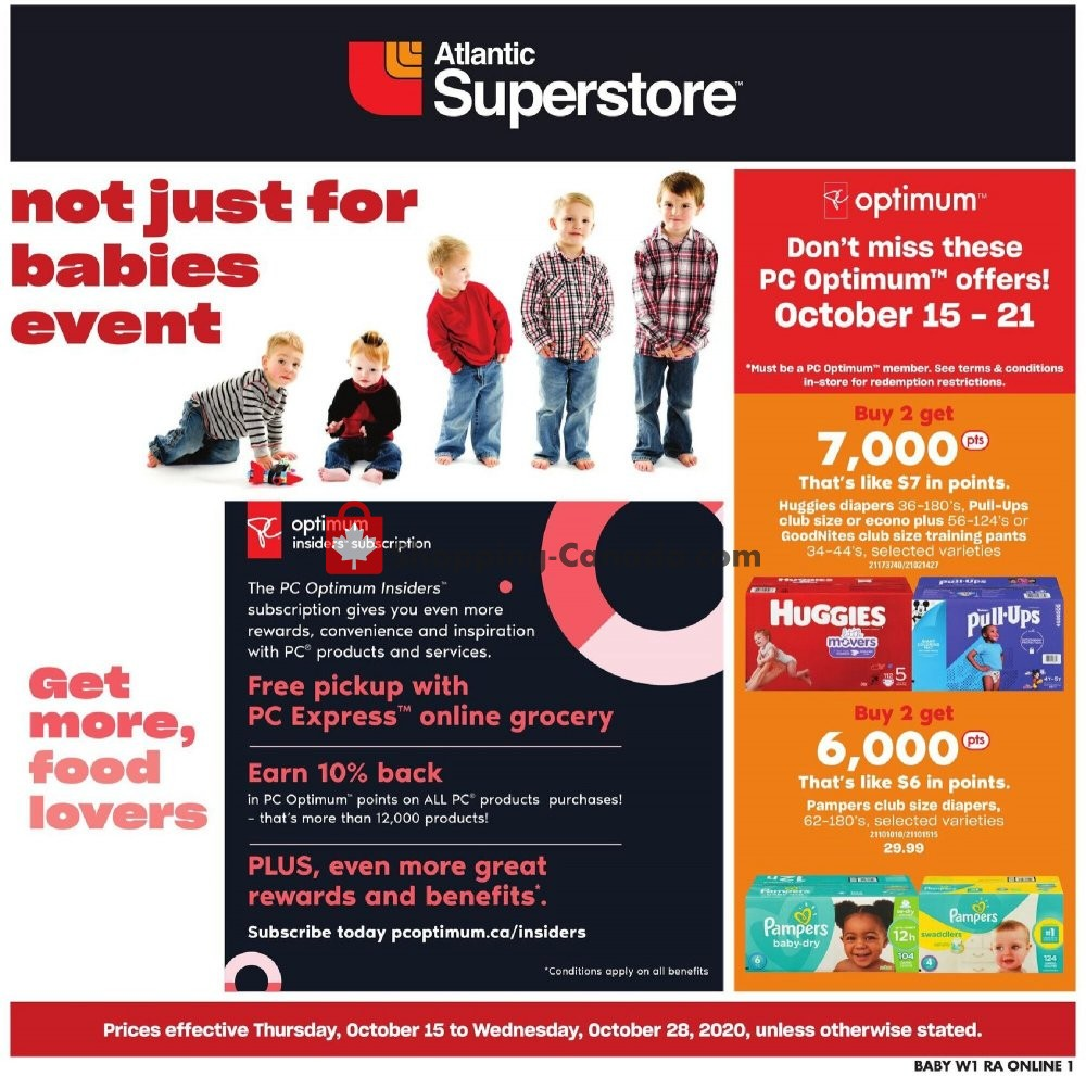 Flyer Atlantic Superstore Canada - from Thursday October 15, 2020 to Wednesday October 28, 2020