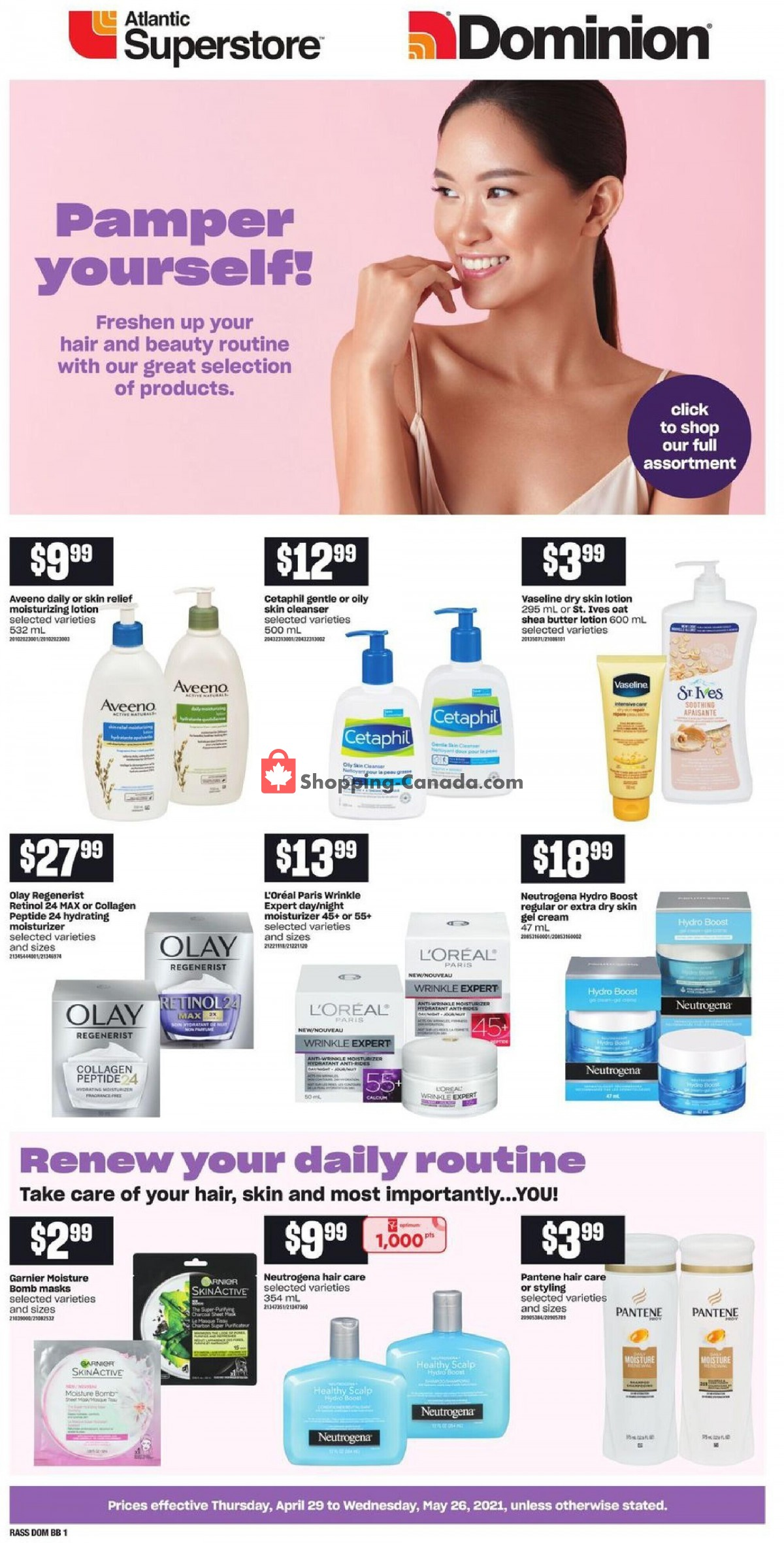 Flyer Atlantic Superstore Canada - from Thursday April 29, 2021 to Wednesday May 26, 2021