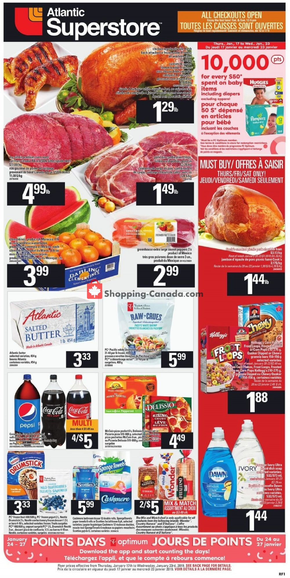 Flyer Atlantic Superstore Canada - from Thursday January 17, 2019 to Wednesday January 23, 2019