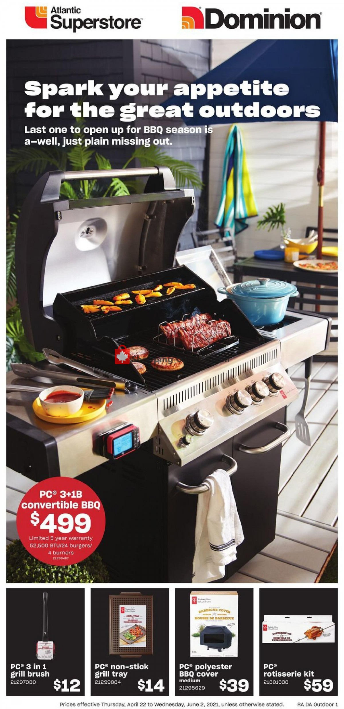 Flyer Atlantic Superstore Canada - from Thursday April 22, 2021 to Wednesday June 2, 2021