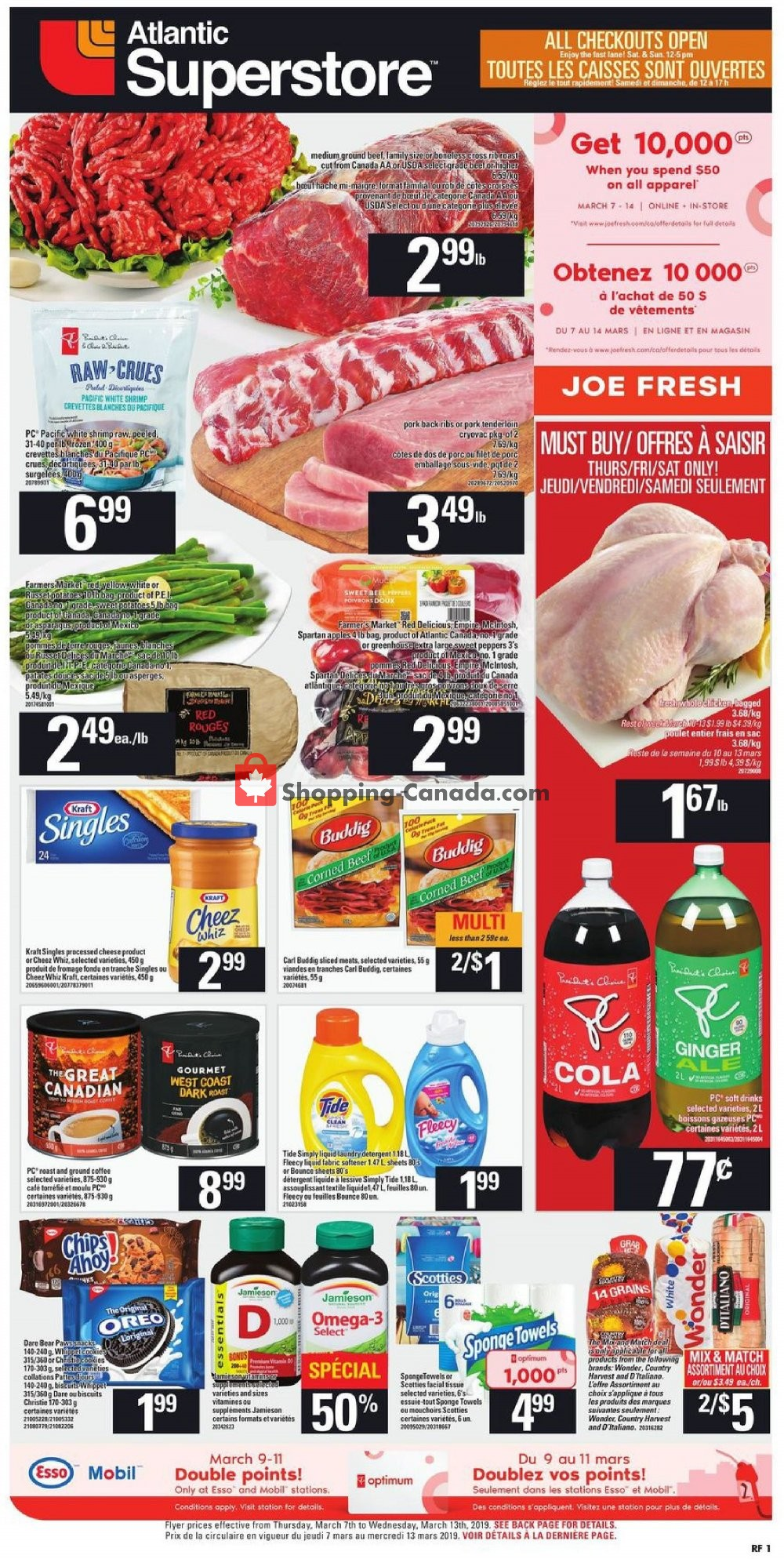 Flyer Atlantic Superstore Canada - from Thursday March 7, 2019 to Wednesday March 13, 2019