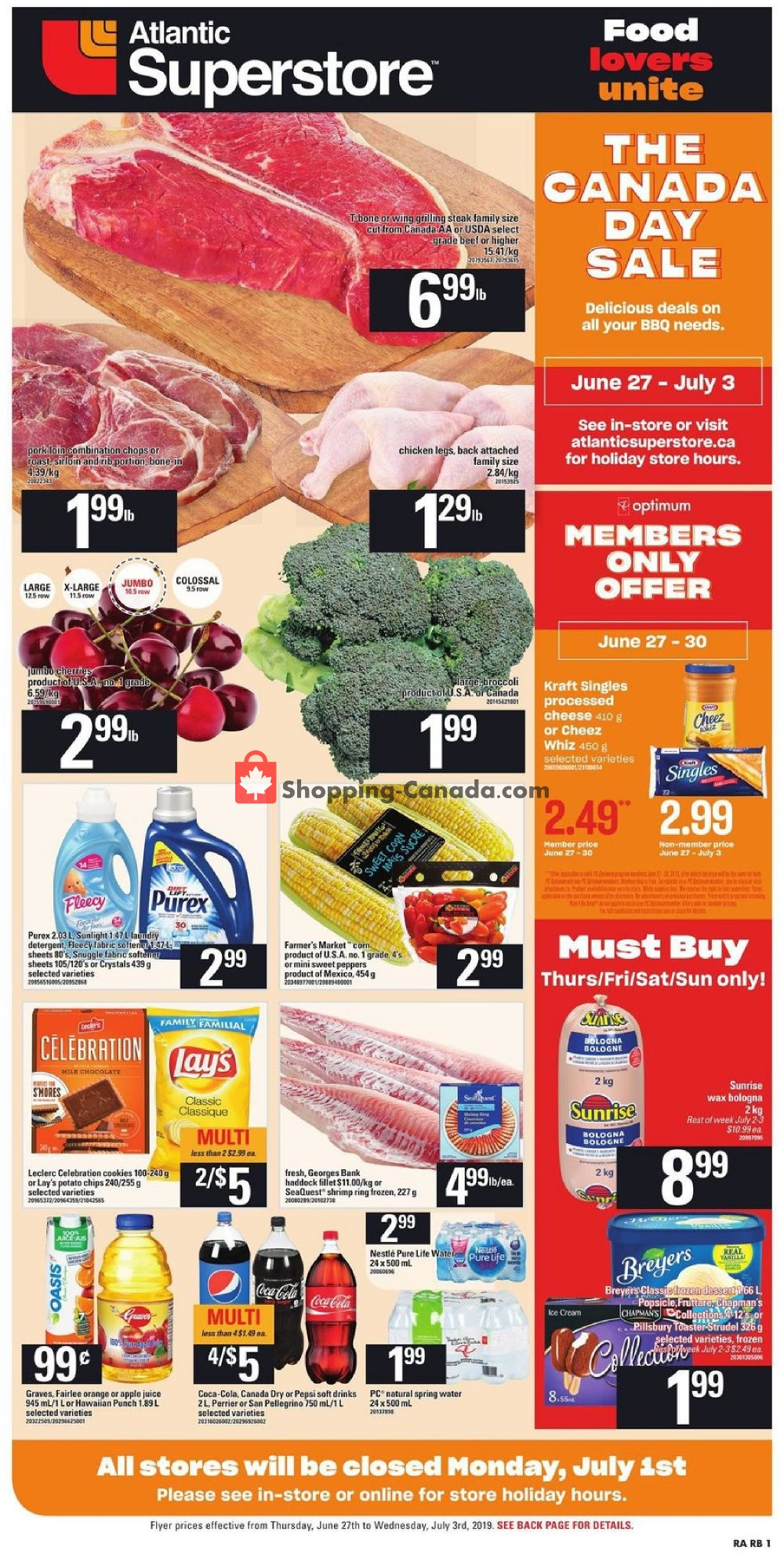 Flyer Atlantic Superstore Canada - from Thursday June 27, 2019 to Wednesday July 3, 2019
