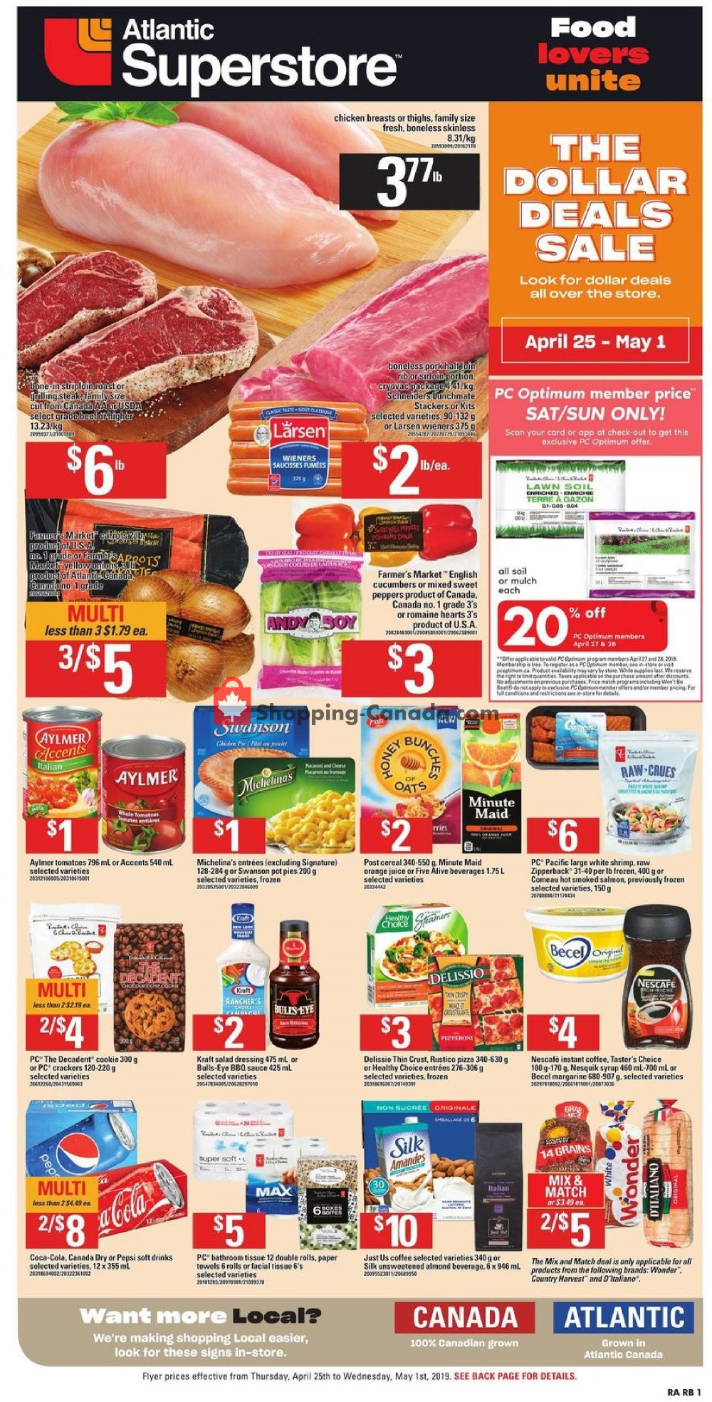Flyer Atlantic Superstore Canada - from Thursday April 25, 2019 to Wednesday May 1, 2019